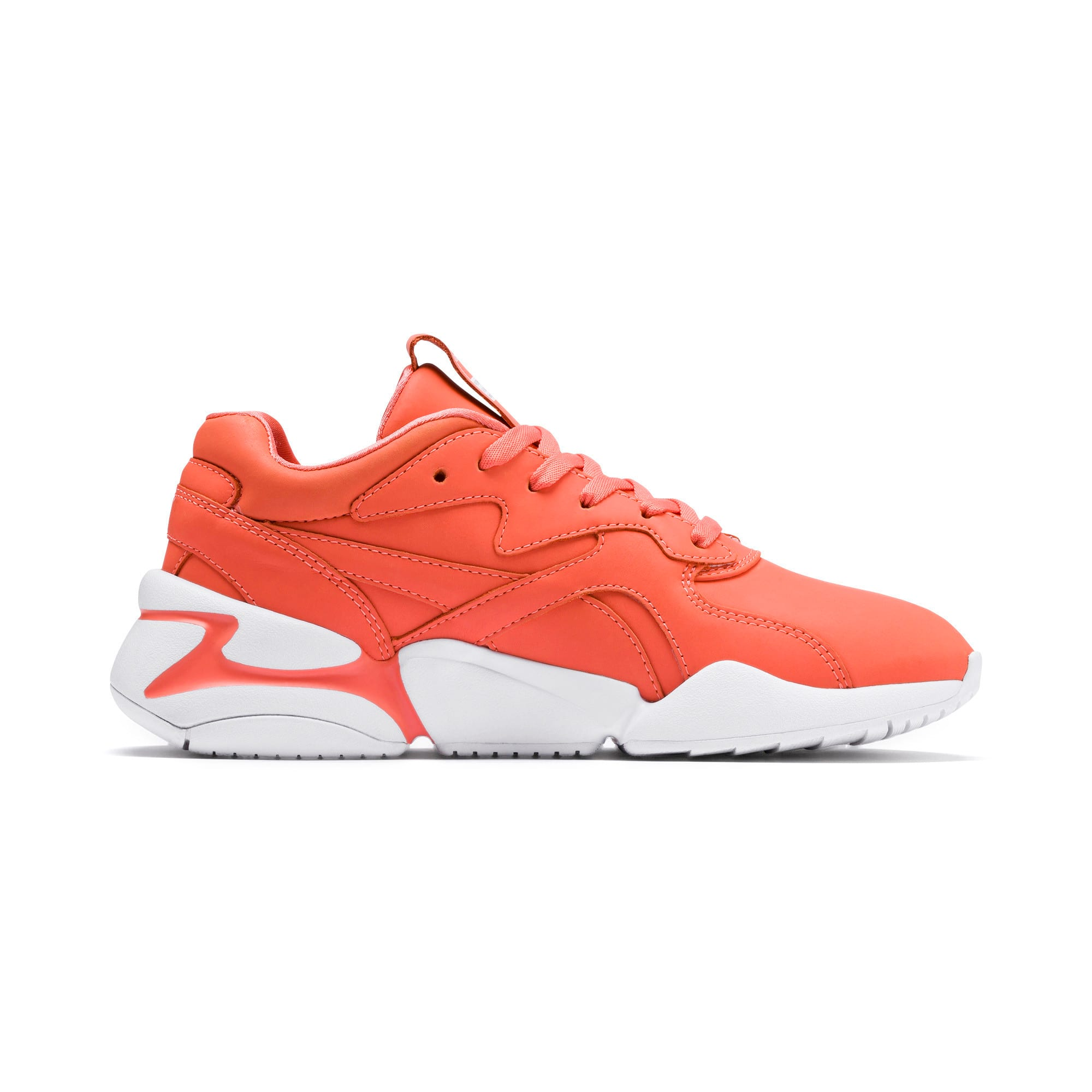 Thumbnail 5 of PUMA x PANTONE Nova Women's Trainers, Living Coral-Puma White, medium