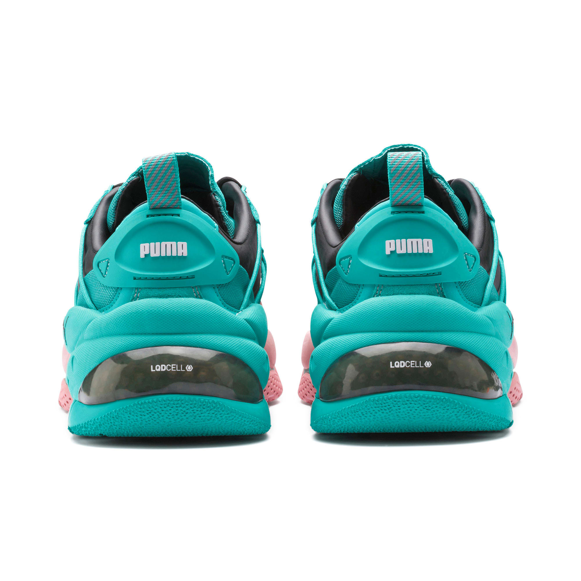 Thumbnail 3 of LQDCELL Omega Manga Cult Trainers, Bridal Rose-Blue Turquoise, medium-IND
