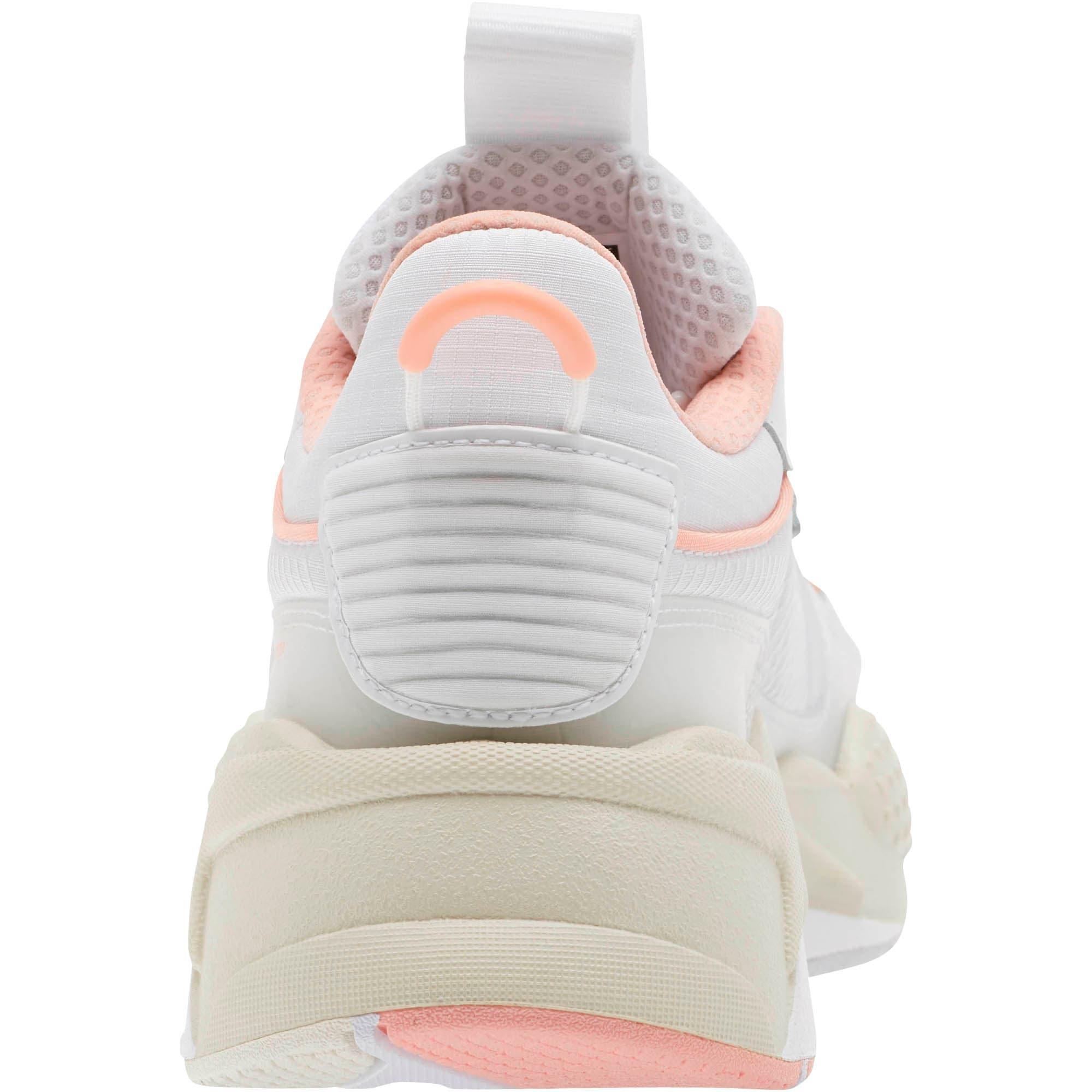 Thumbnail 3 of RS-X Tech Women's Sneakers, Puma White-Peach Bud, medium