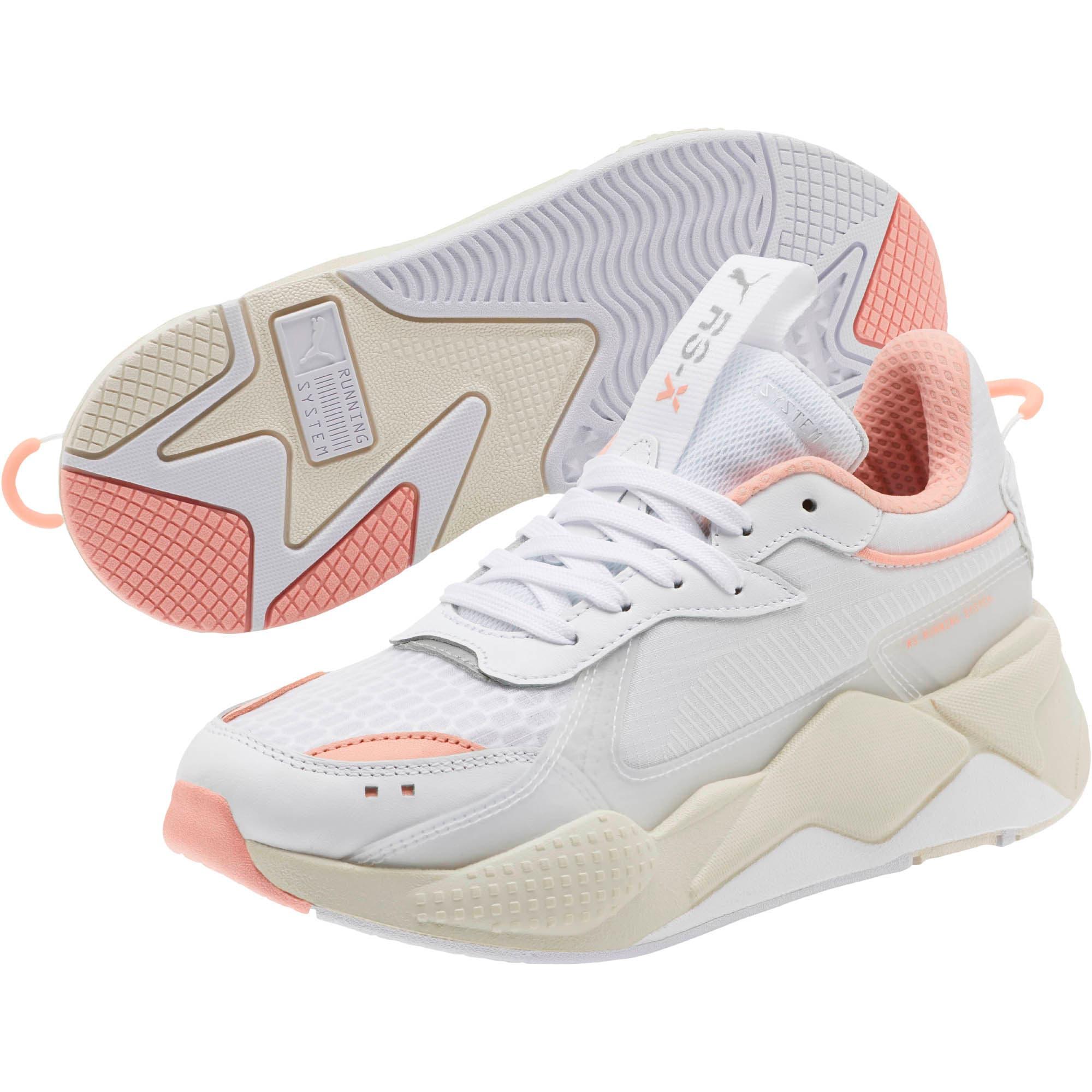 Thumbnail 2 of RS-X Tech Women's Sneakers, Puma White-Peach Bud, medium