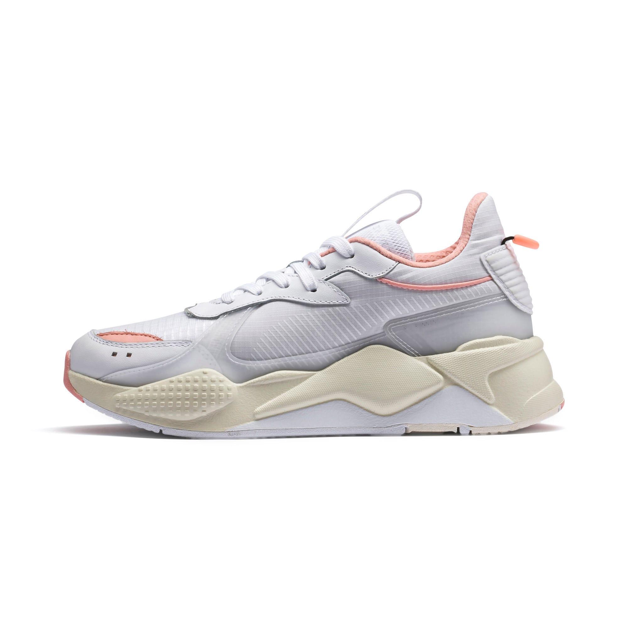 Thumbnail 1 of RS-X Tech Women's Sneakers, Puma White-Peach Bud, medium