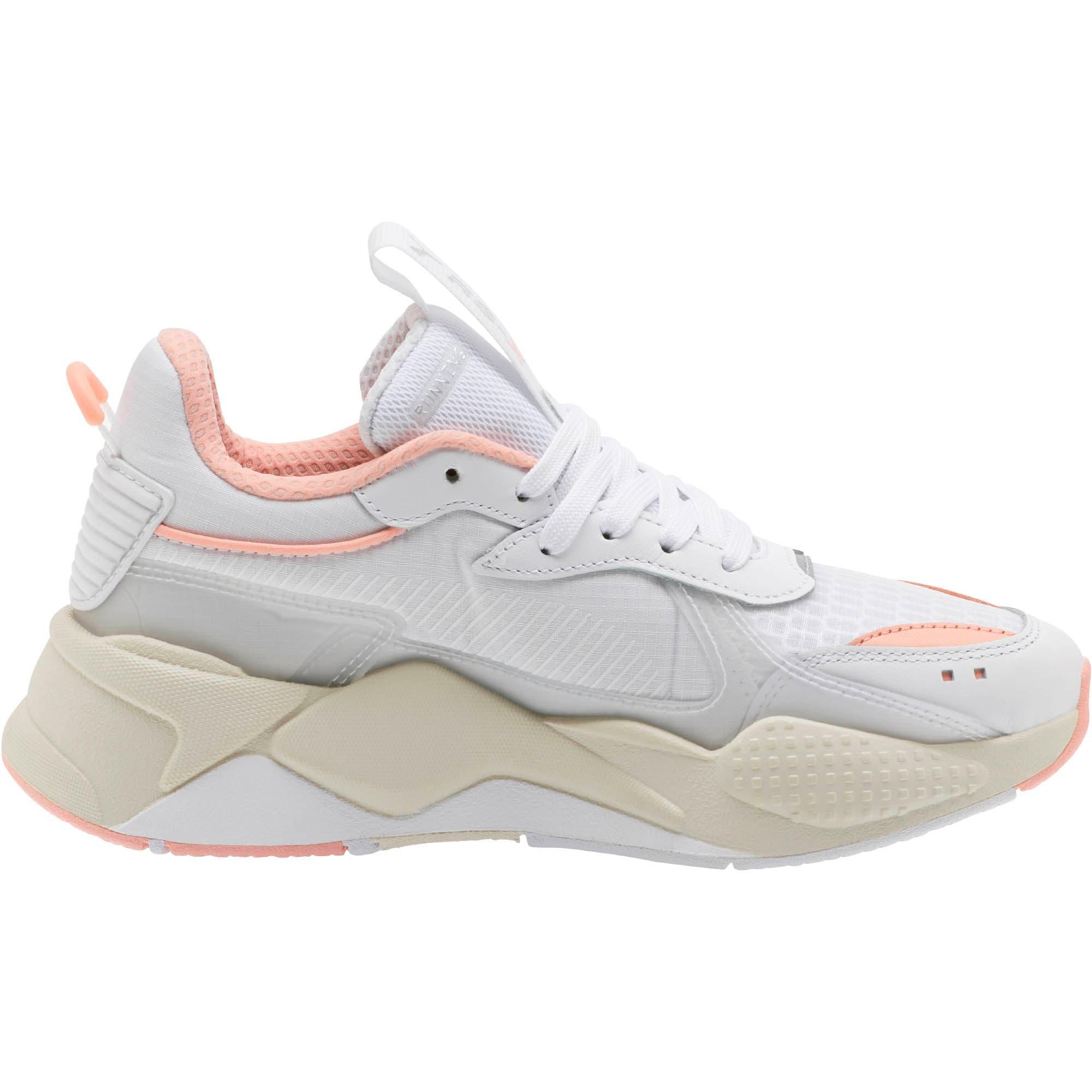 Thumbnail 4 of RS-X Tech Women's Sneakers, Puma White-Peach Bud, medium