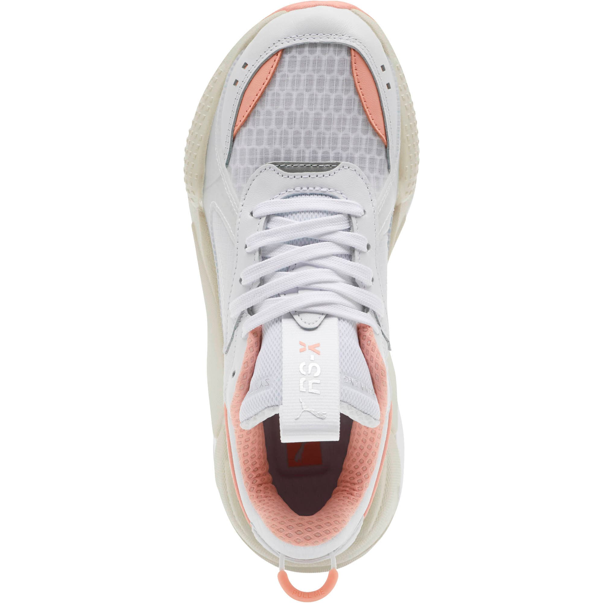 Thumbnail 5 of RS-X Tech Women's Sneakers, Puma White-Peach Bud, medium