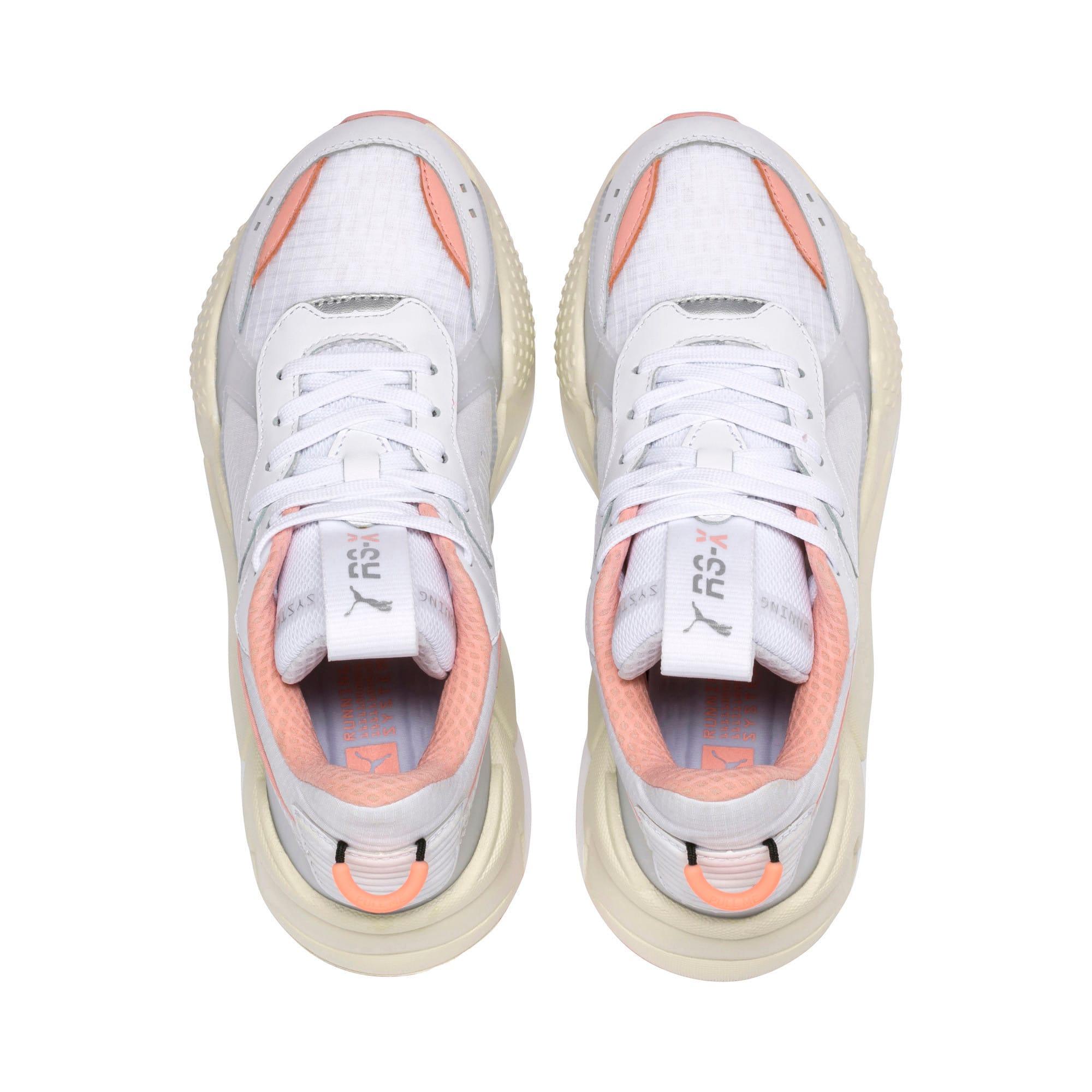 Thumbnail 6 of RS-X Tech Women's Sneakers, Puma White-Peach Bud, medium