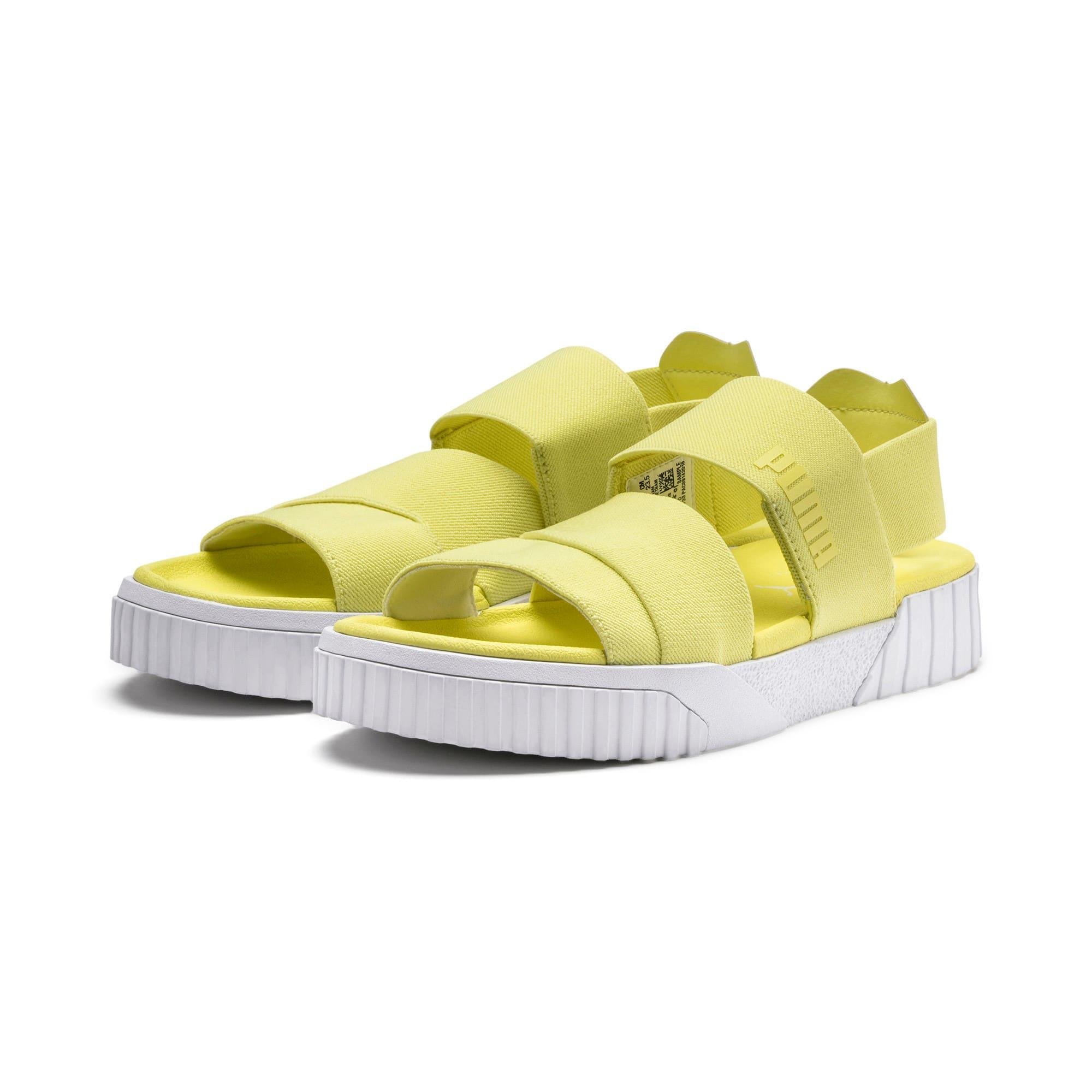 Thumbnail 3 of PUMA x SELENA GOMEZ Cali Women's Sandals, SOFT FLUO YELLOW, medium
