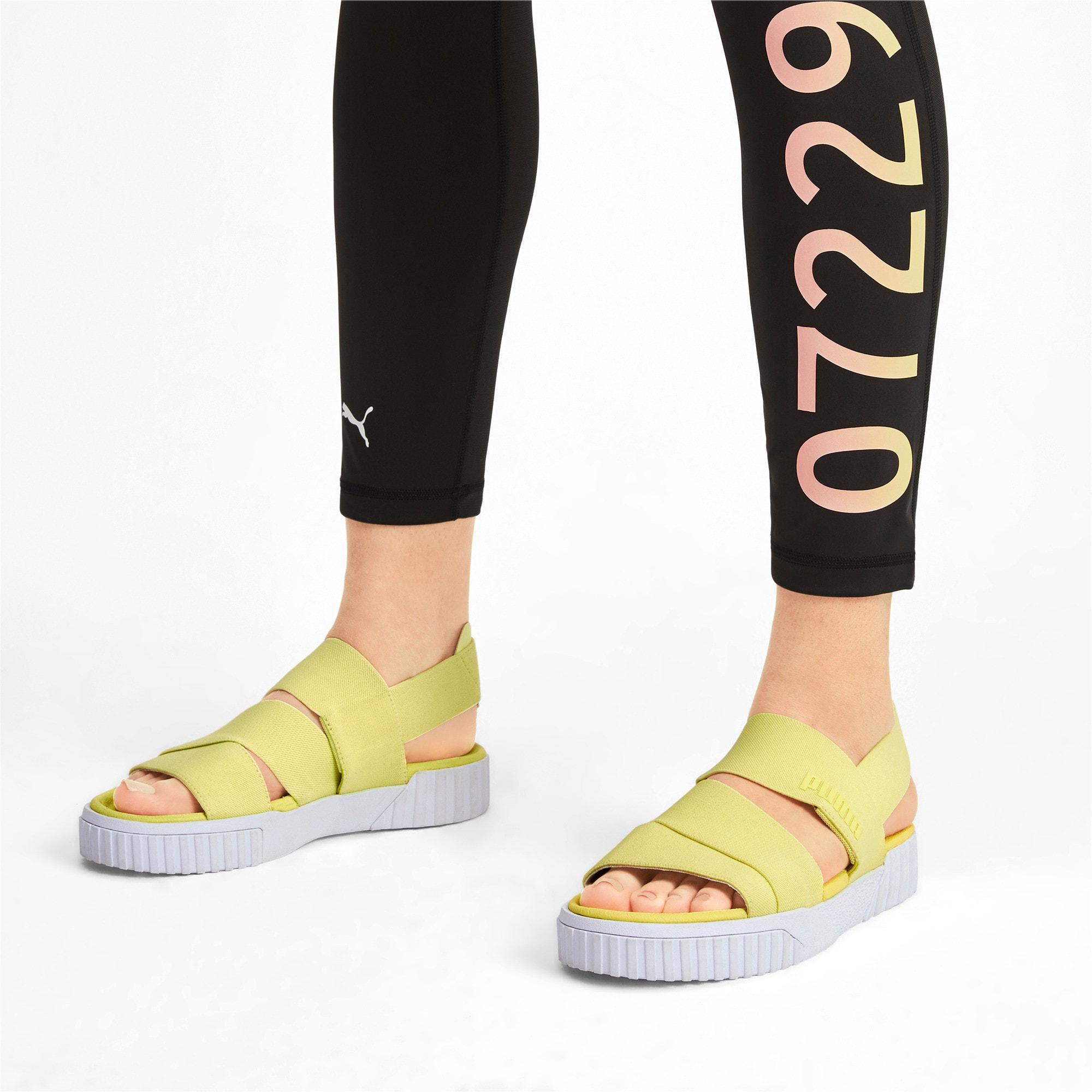 Thumbnail 2 of PUMA x SELENA GOMEZ Cali Women's Sandals, SOFT FLUO YELLOW, medium