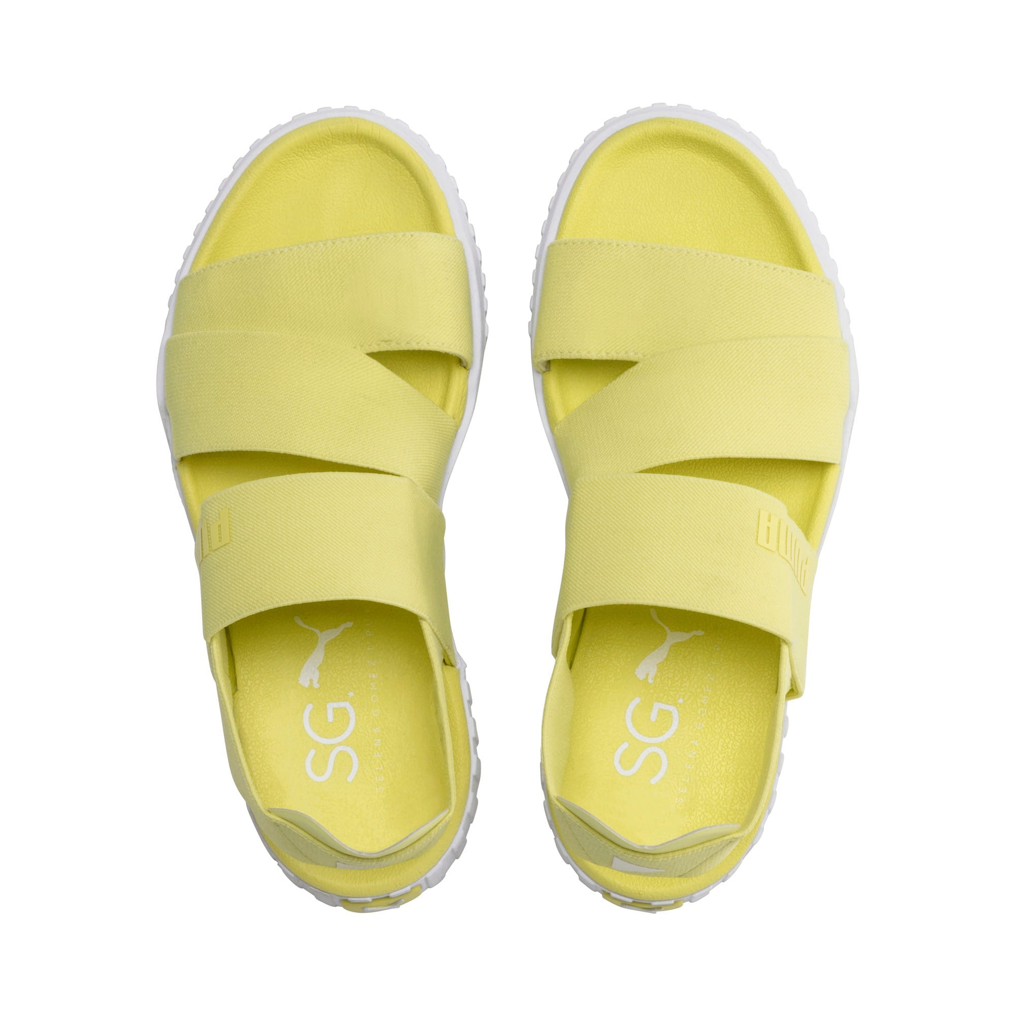 Thumbnail 7 of PUMA x SELENA GOMEZ Cali Women's Sandals, SOFT FLUO YELLOW, medium