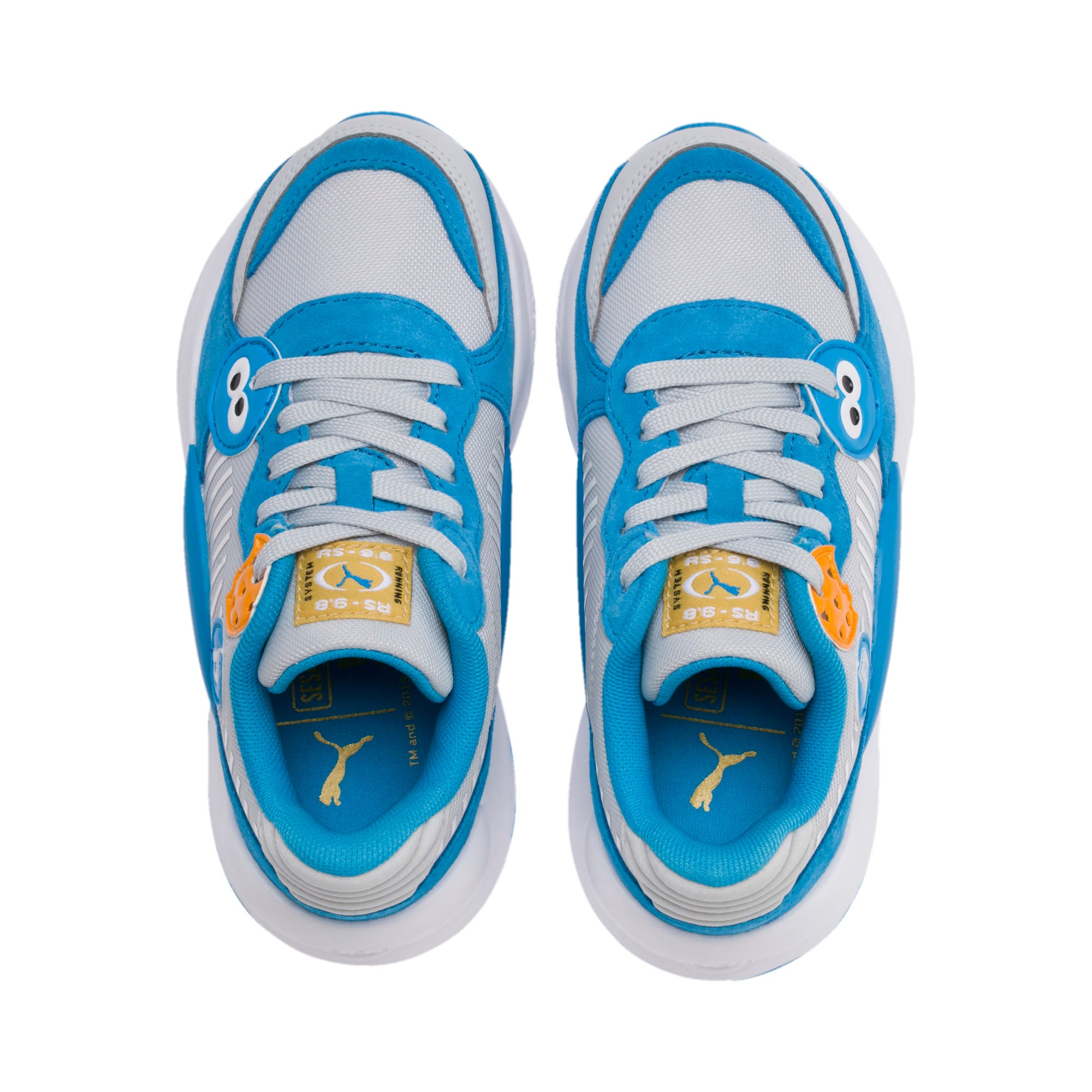 Thumbnail 6 of Sesame Street 50 RS 9.8 Kids' Trainers, Grey Dawn-Bleu Azur, medium