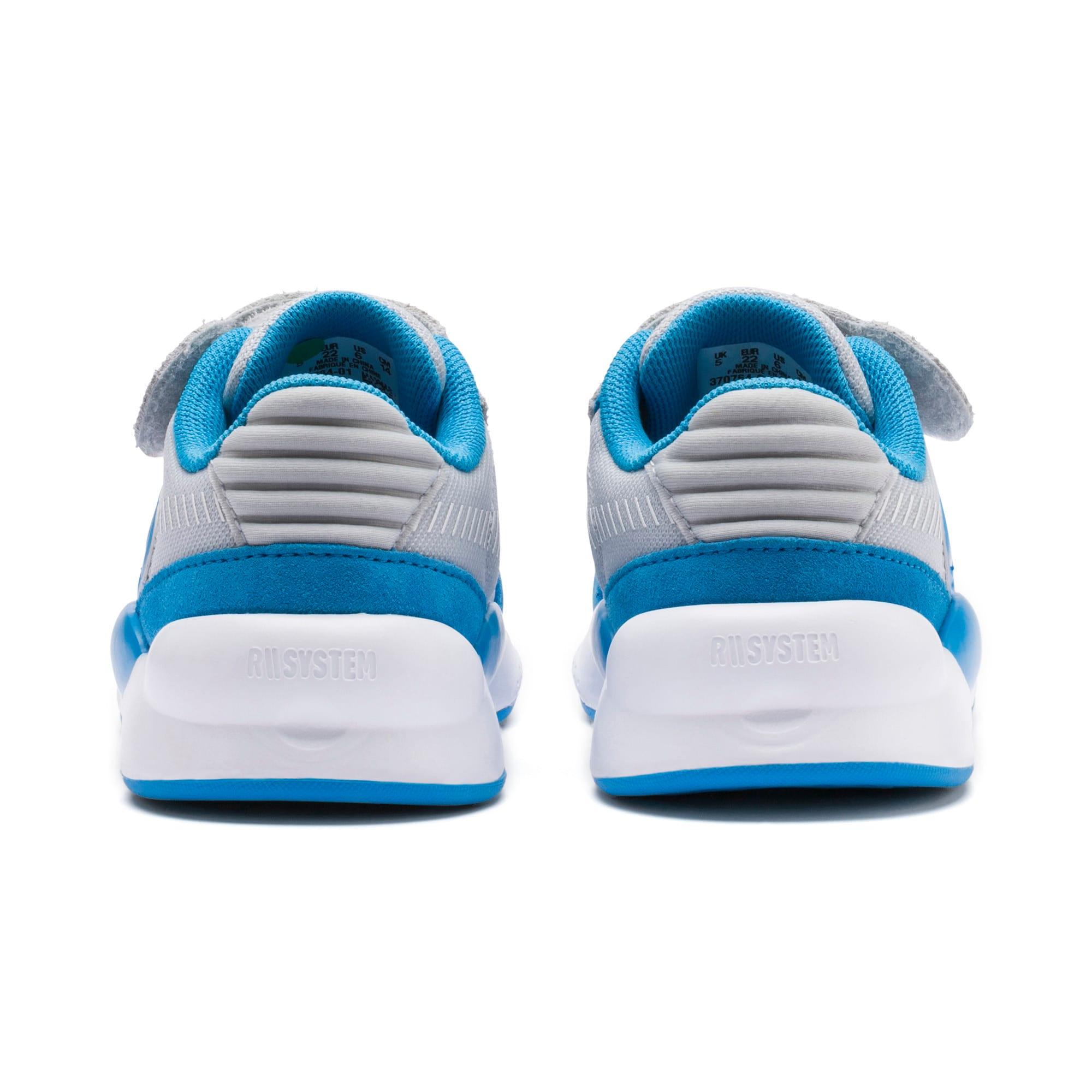 Thumbnail 3 of PUMA x SESAME STREET 50 RS 9.8 Toddler Shoes, Grey Dawn-Bleu Azur, medium