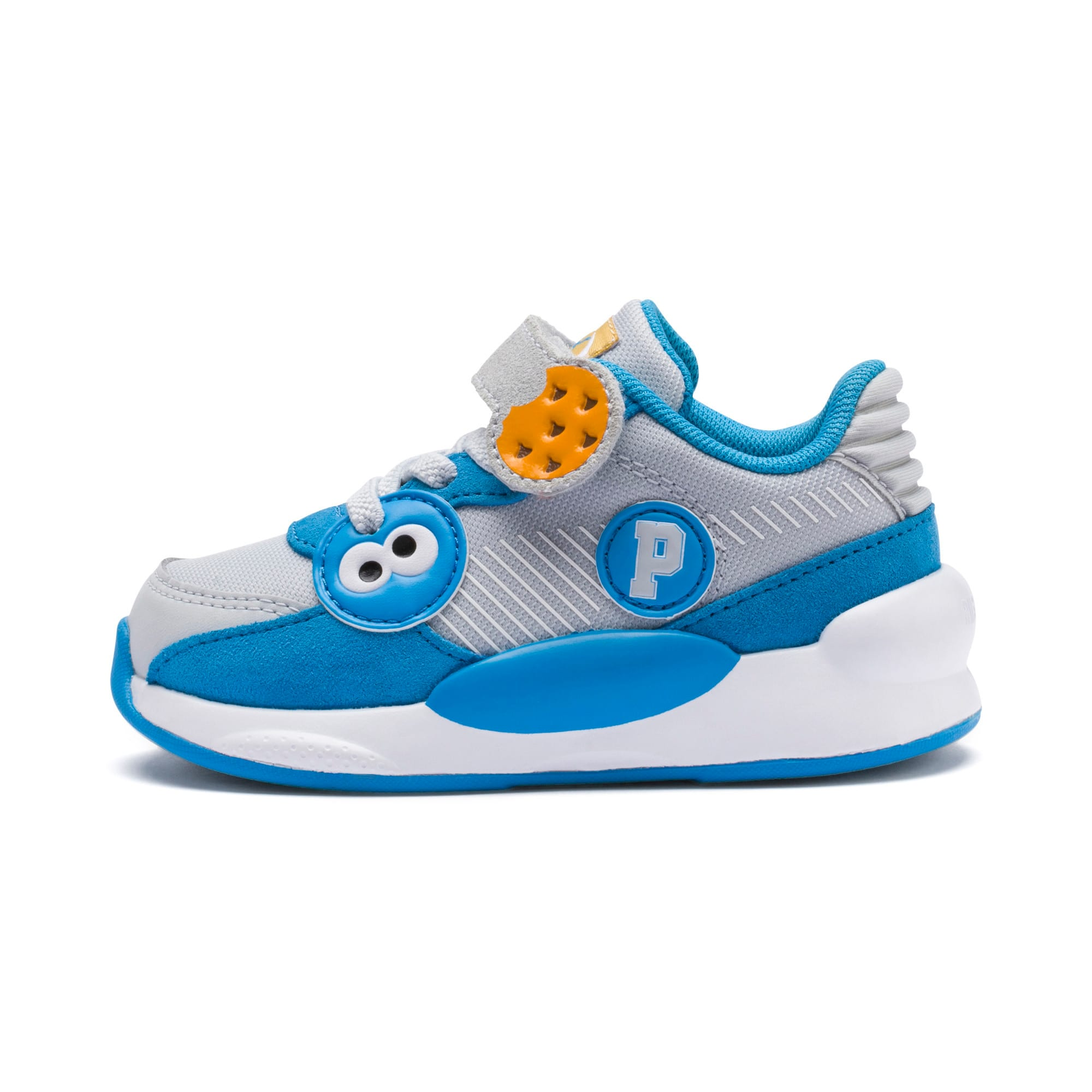 Sesame Street 50 RS 9.8 Babies' Trainers, Grey Dawn-Bleu Azur, large