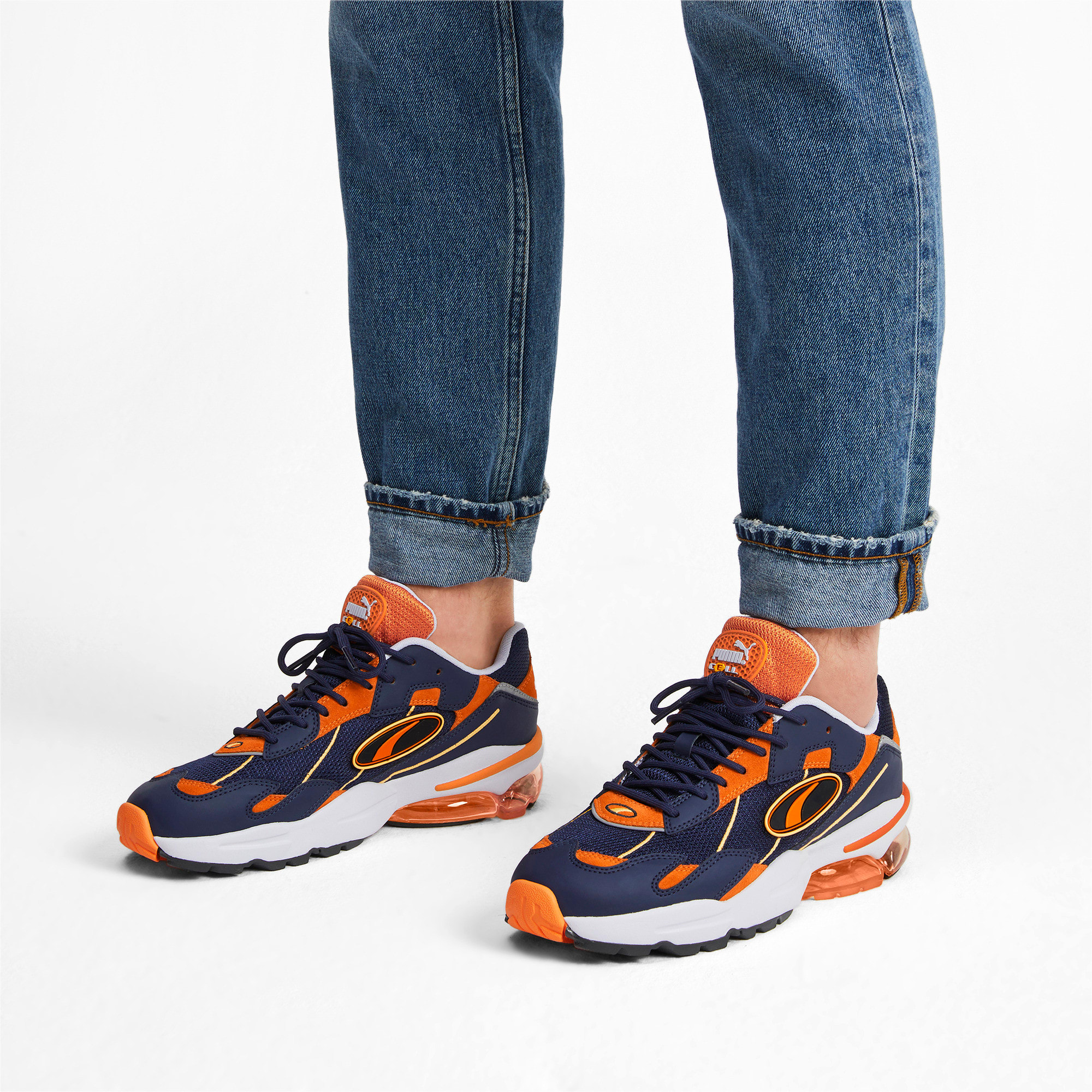 Thumbnail 2 of CELL Ultra OG Pack Sneakers, Peacoat-Jaffa Orange, medium