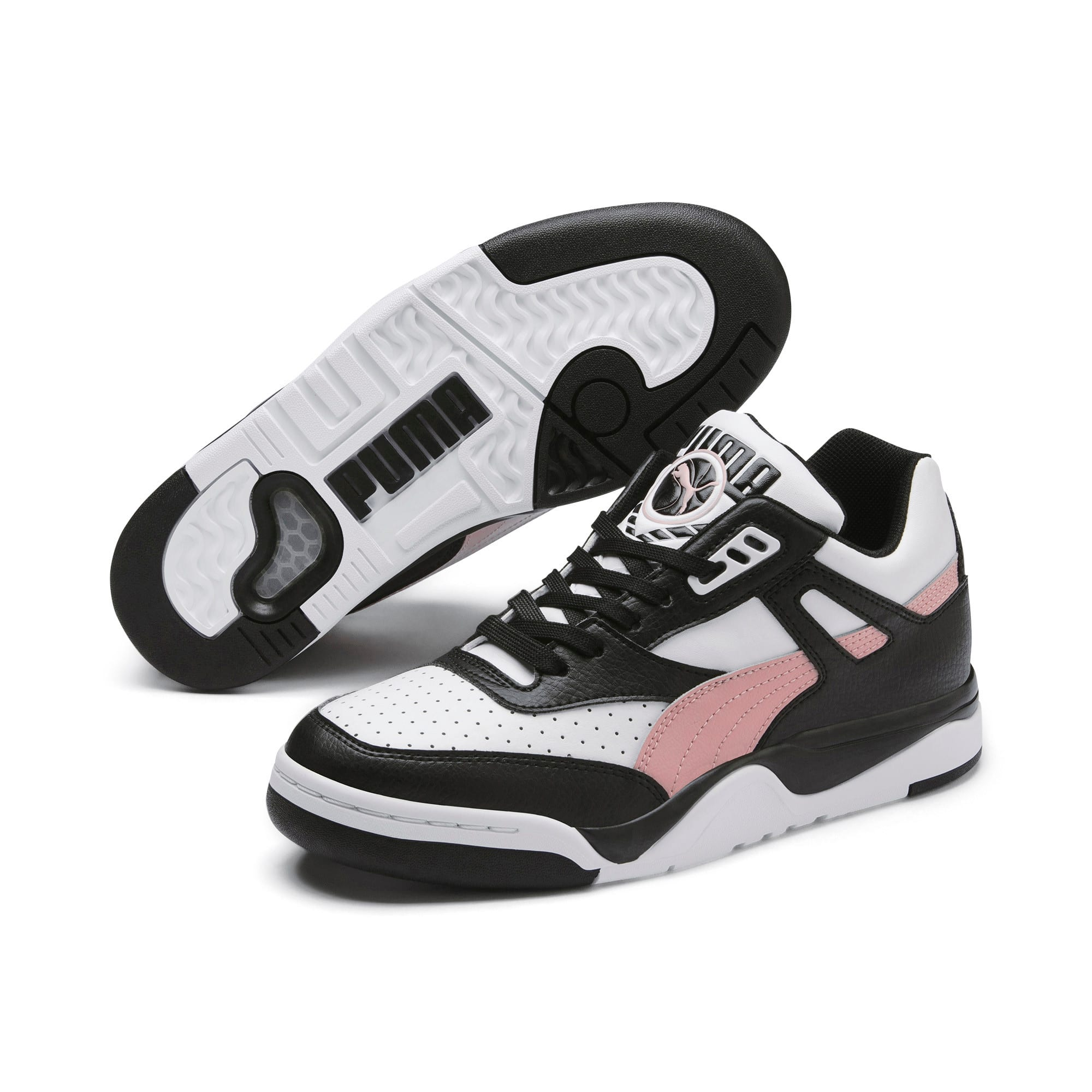 Thumbnail 3 of Basket Palace Guard Colour Block pour femme, Puma Black-Puma White, medium