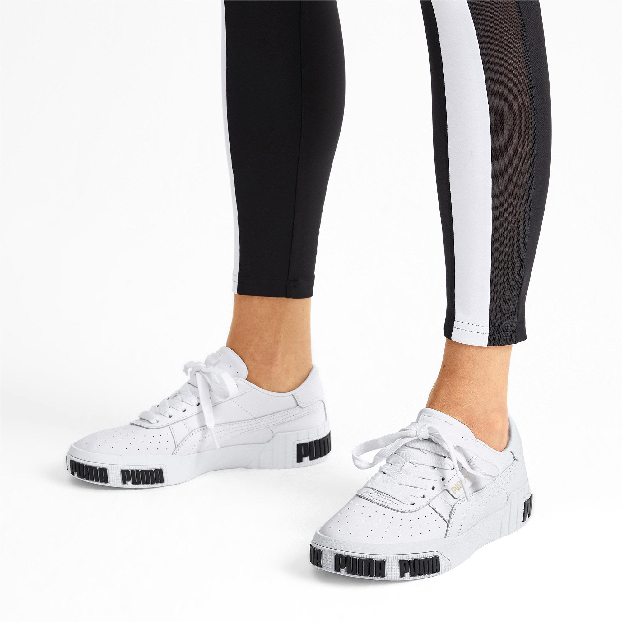 Thumbnail 2 of Cali Bold Women's Sneakers, Puma White-Metallic Gold, medium