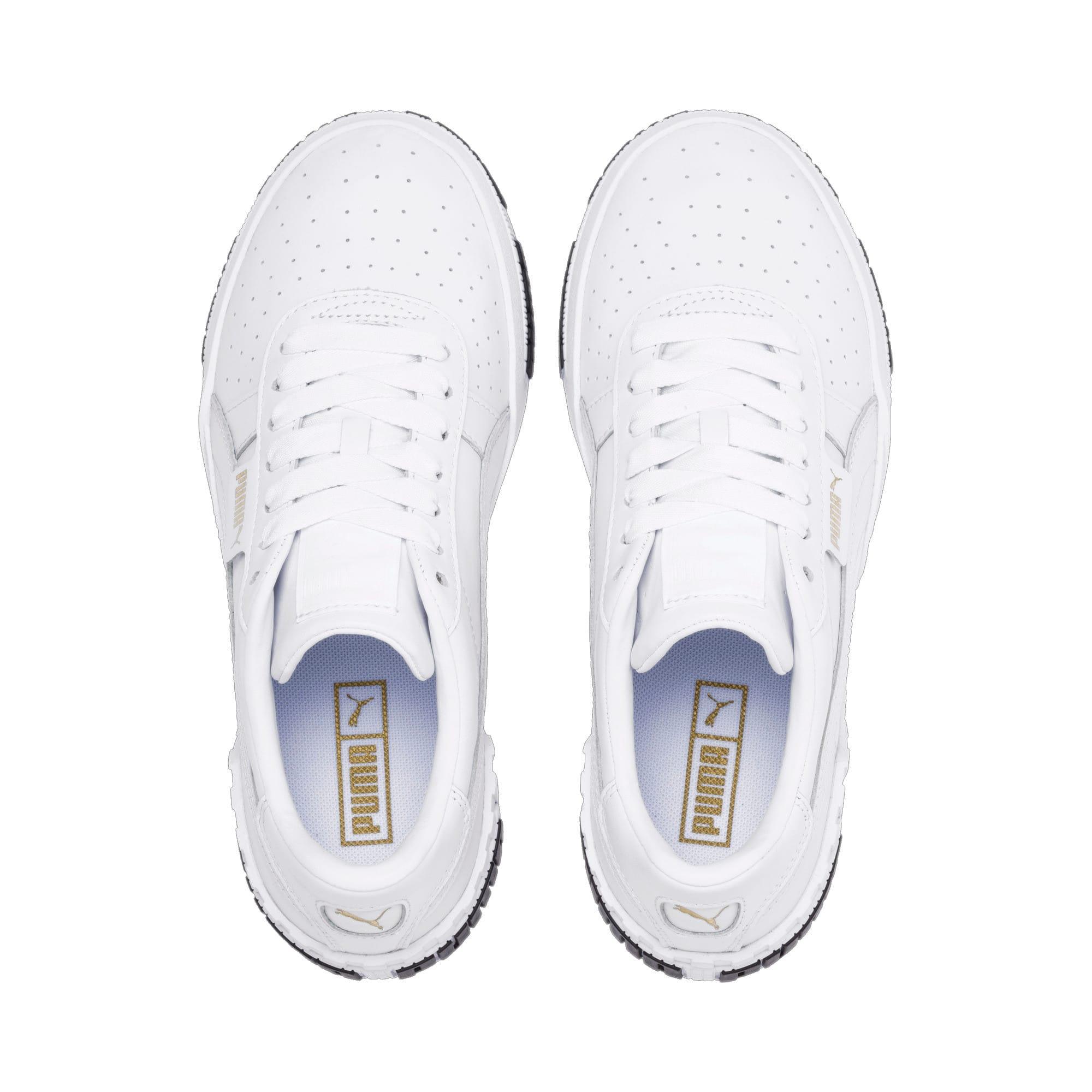 Thumbnail 8 of Cali Bold Women's Sneakers, Puma White-Metallic Gold, medium