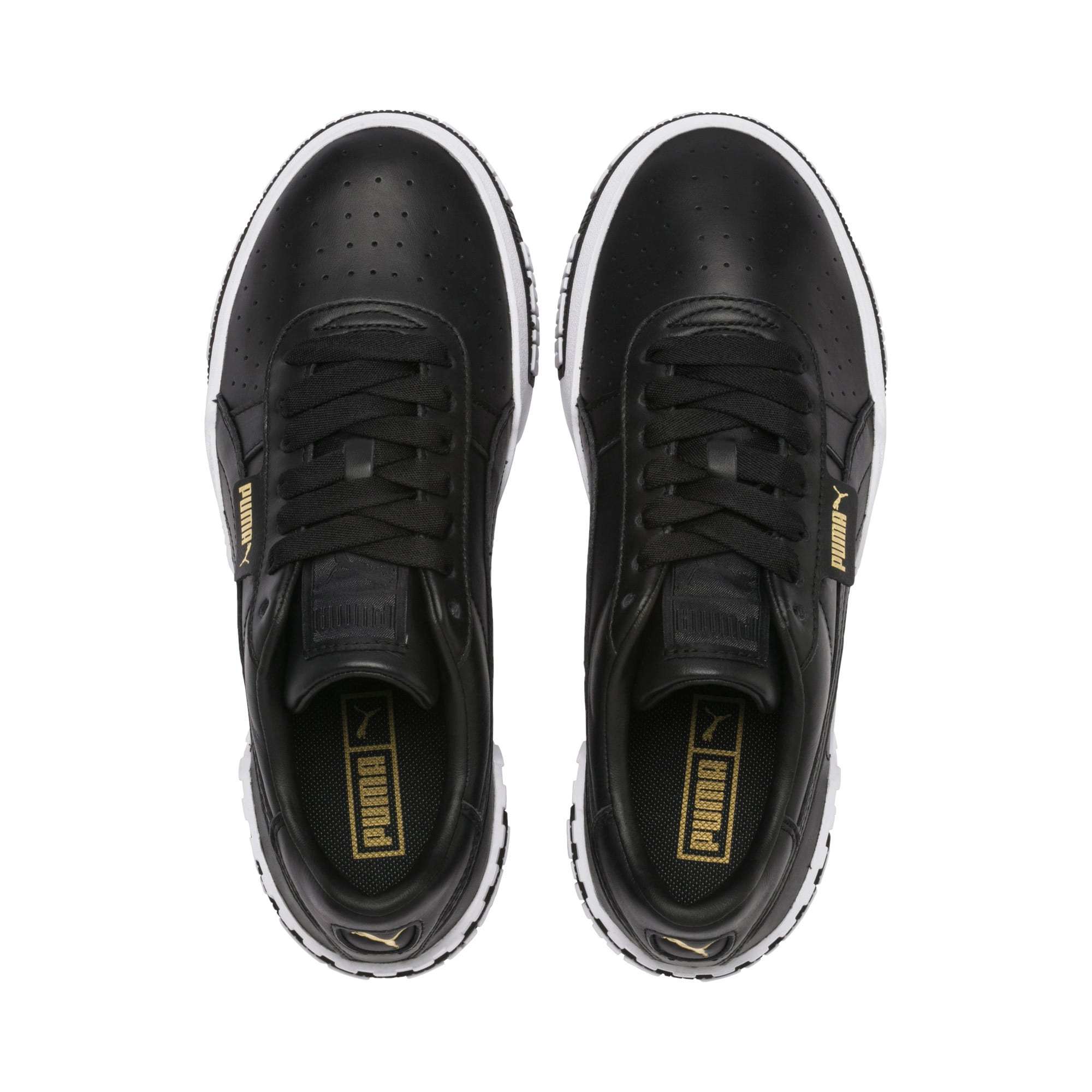Thumbnail 8 of Cali Bold Damen Sneaker, Puma Black-Metallic Gold, medium