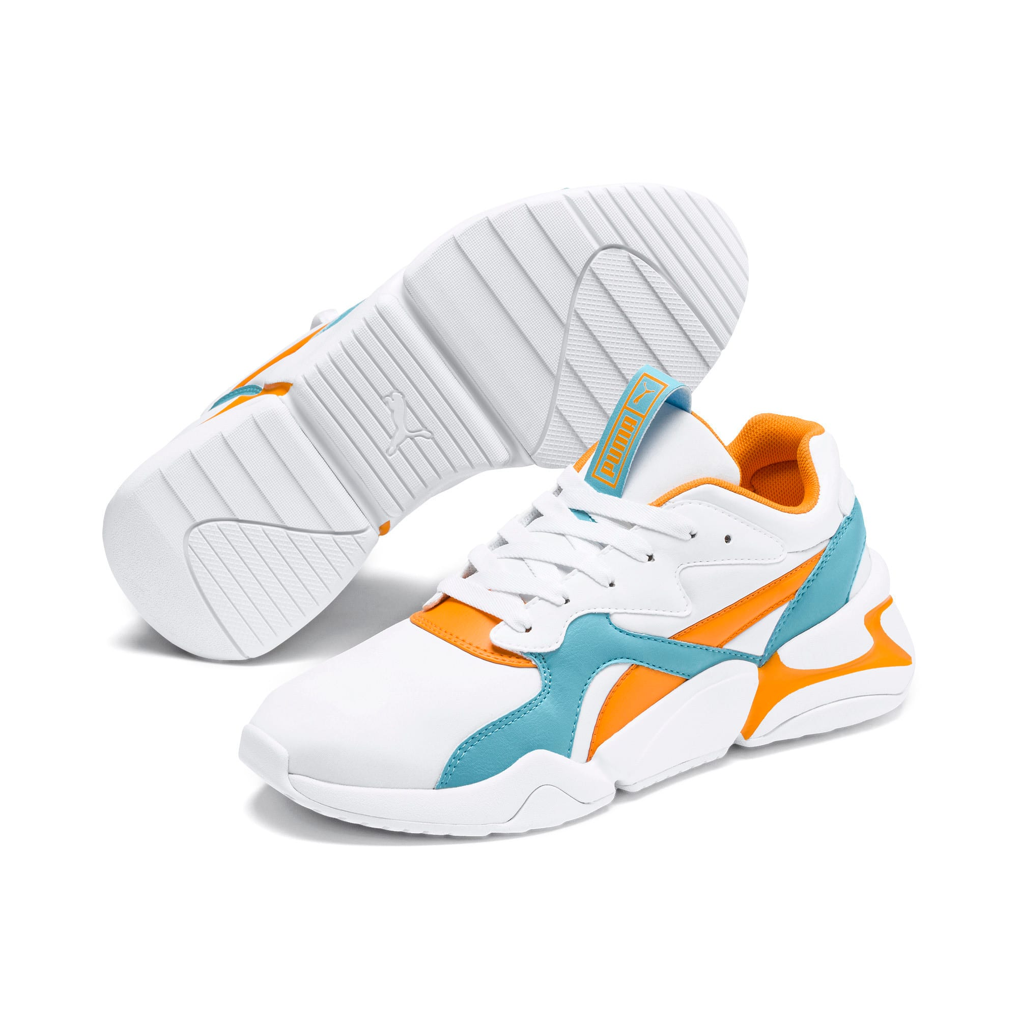 Thumbnail 3 of Nova Women's Trainers, Puma White-Milky Blue, medium