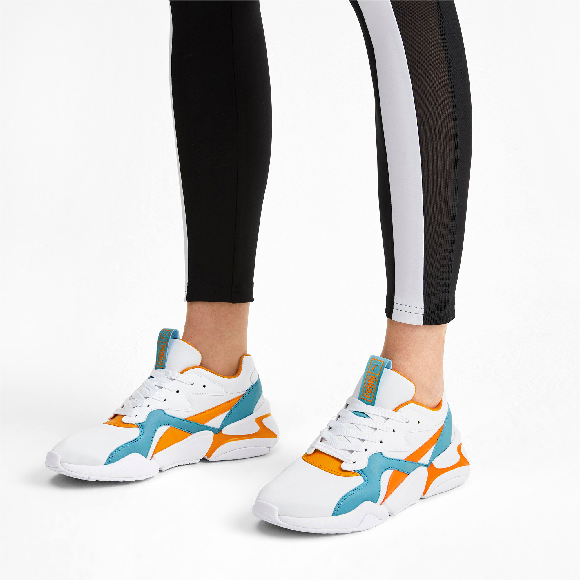 Thumbnail 2 of Nova Women's Trainers, Puma White-Milky Blue, medium