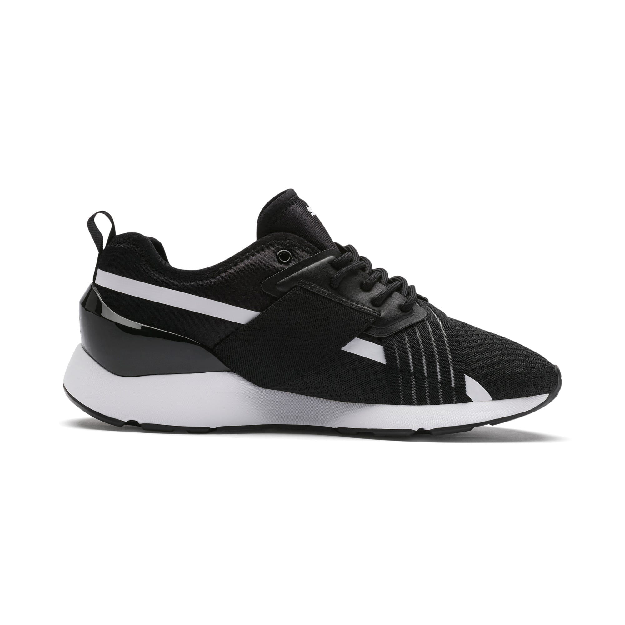 Muse X-2 Women's Sneakers, Puma Black-Puma White, large