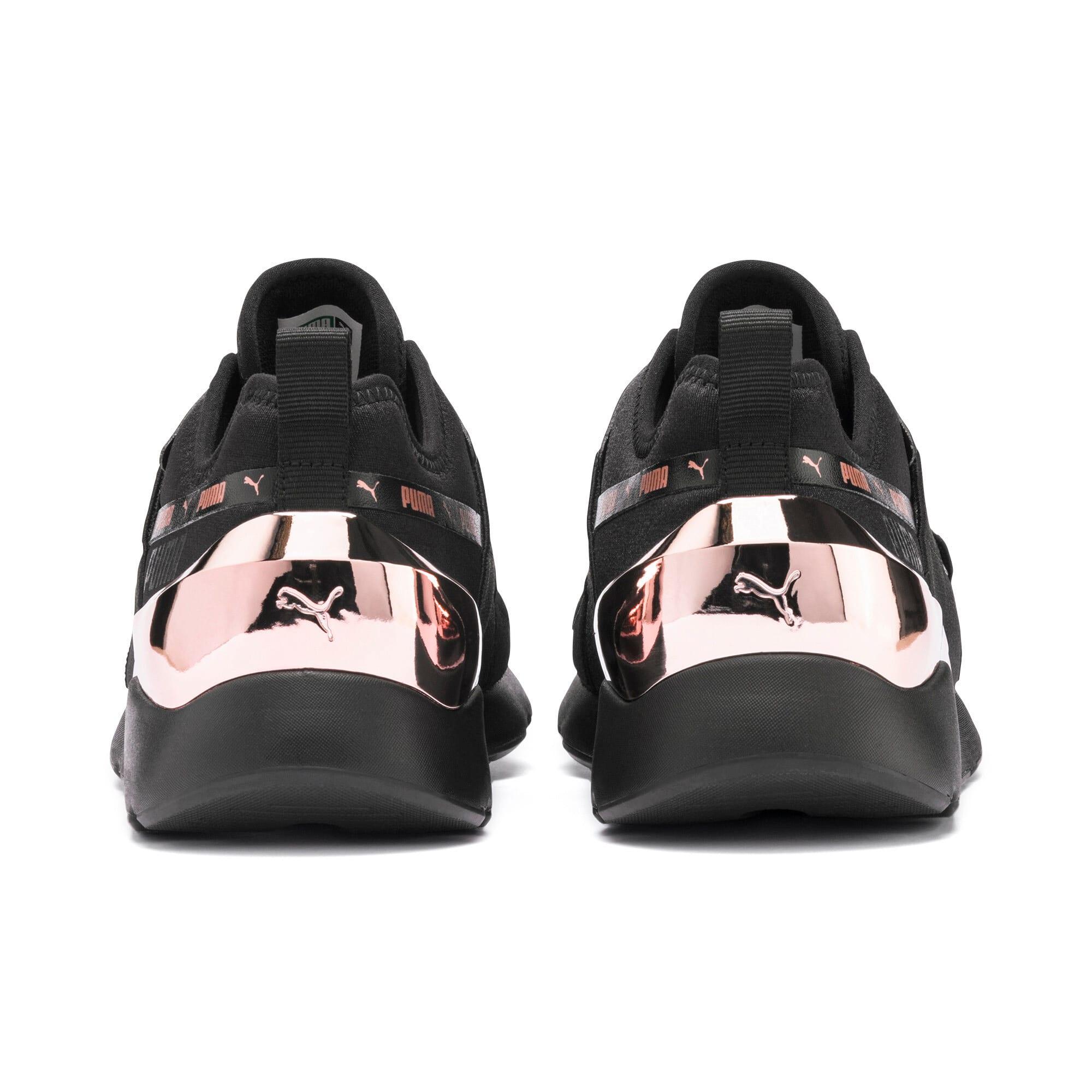 Thumbnail 4 of Muse X-2 Metallic Women's Sneakers, Puma Black-Rose Gold, medium