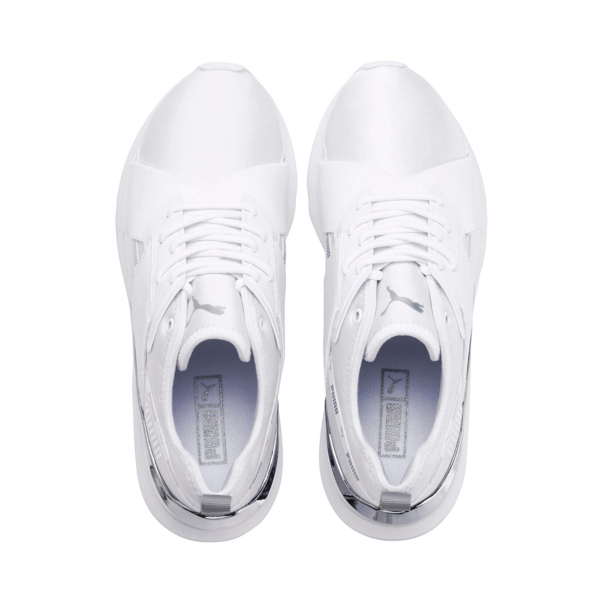 Thumbnail 7 of Muse X-2 Metallic Women's Sneakers, Puma White, medium