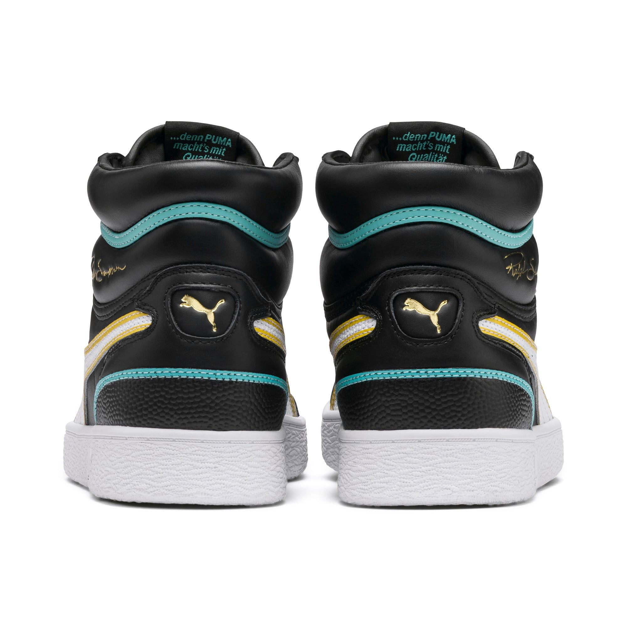 Thumbnail 4 of Ralph Sampson Mid Hoops Sneakers, Puma Blk-Puma Wht-Puma Wht, medium