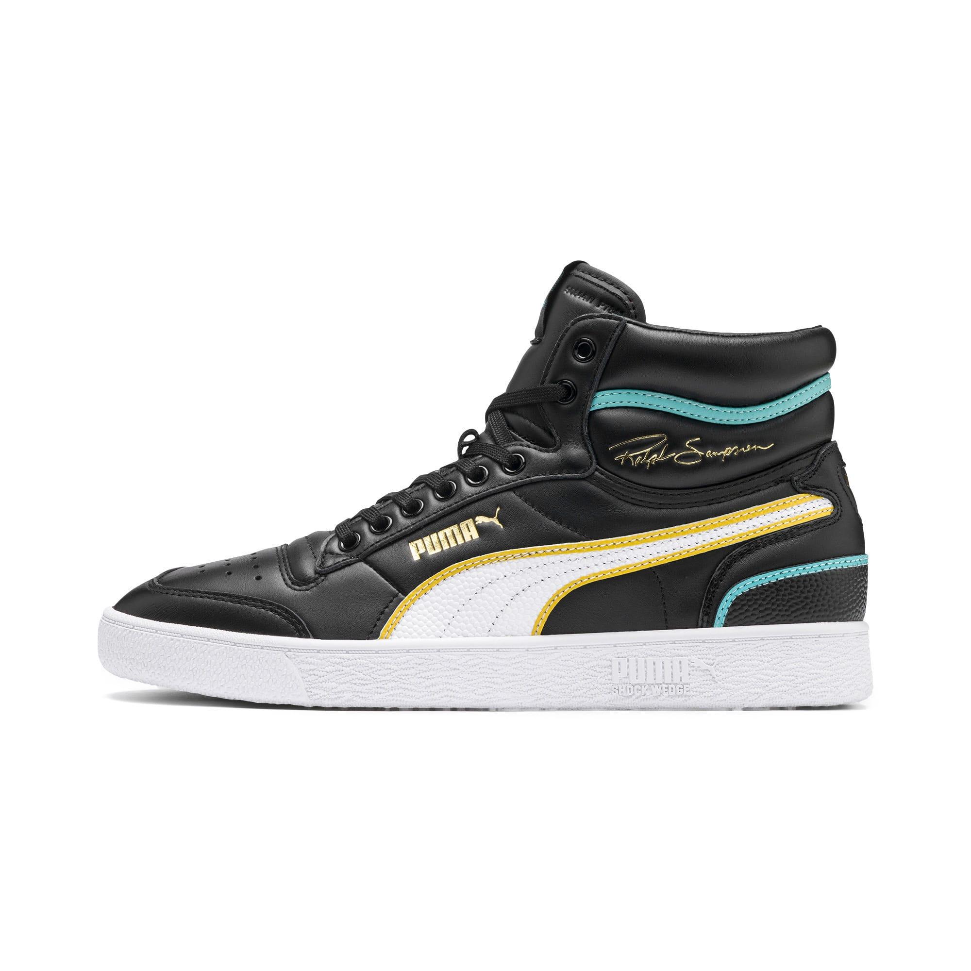 Thumbnail 1 of Ralph Sampson Mid Hoops Sneakers, Puma Blk-Puma Wht-Puma Wht, medium