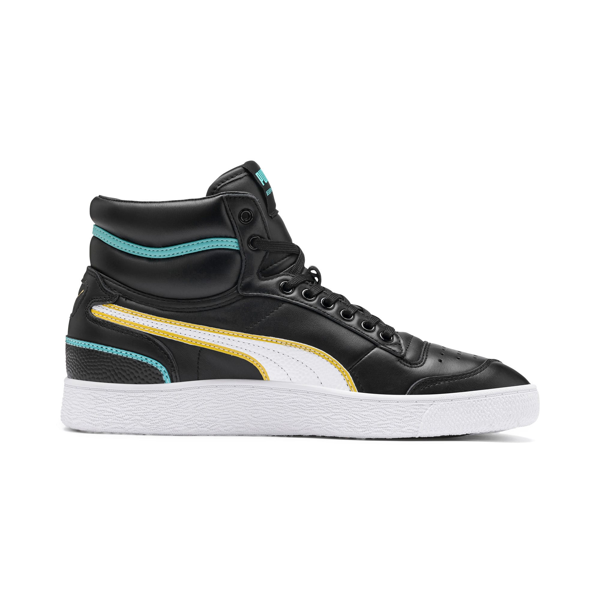 Thumbnail 6 of Ralph Sampson Mid Hoops Sneakers, Puma Blk-Puma Wht-Puma Wht, medium