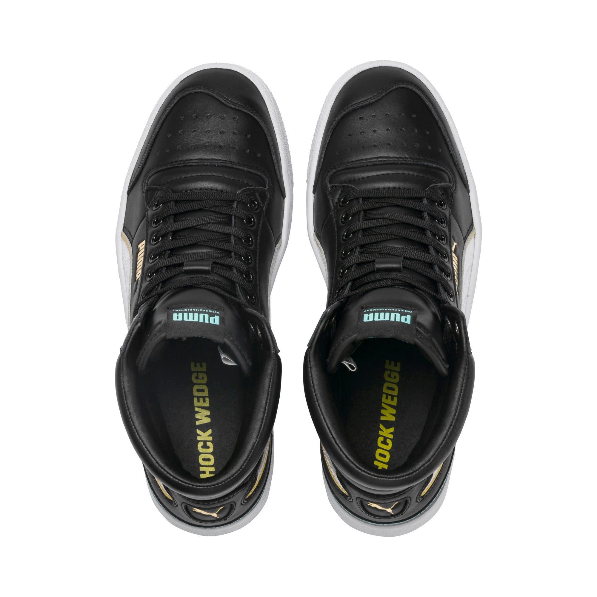 Thumbnail 7 of Ralph Sampson Mid Hoops Sneakers, Puma Blk-Puma Wht-Puma Wht, medium