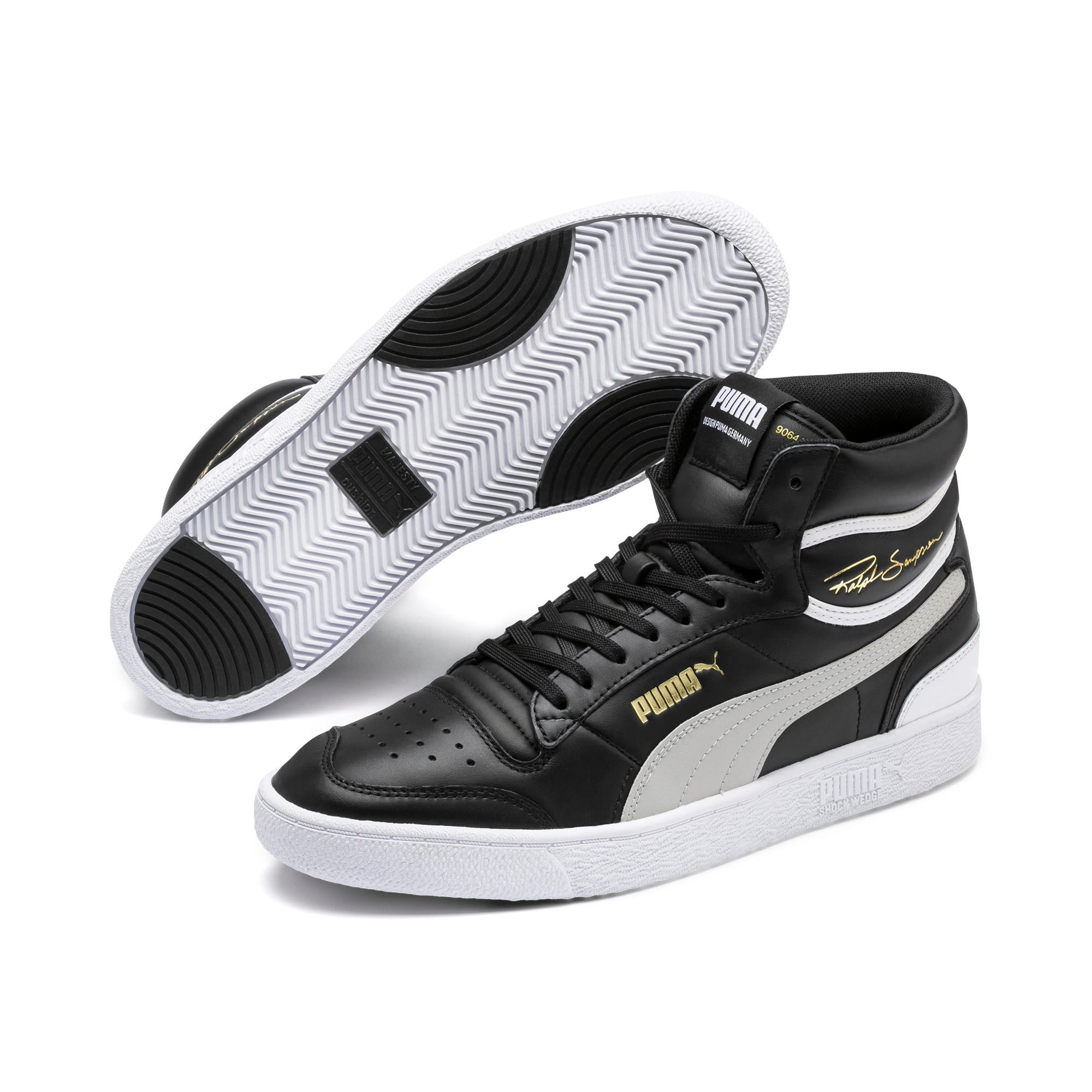 Thumbnail 2 of Ralph Sampson Mid Sneakers, PumaBlk-Gray Violet-PumaWht, medium