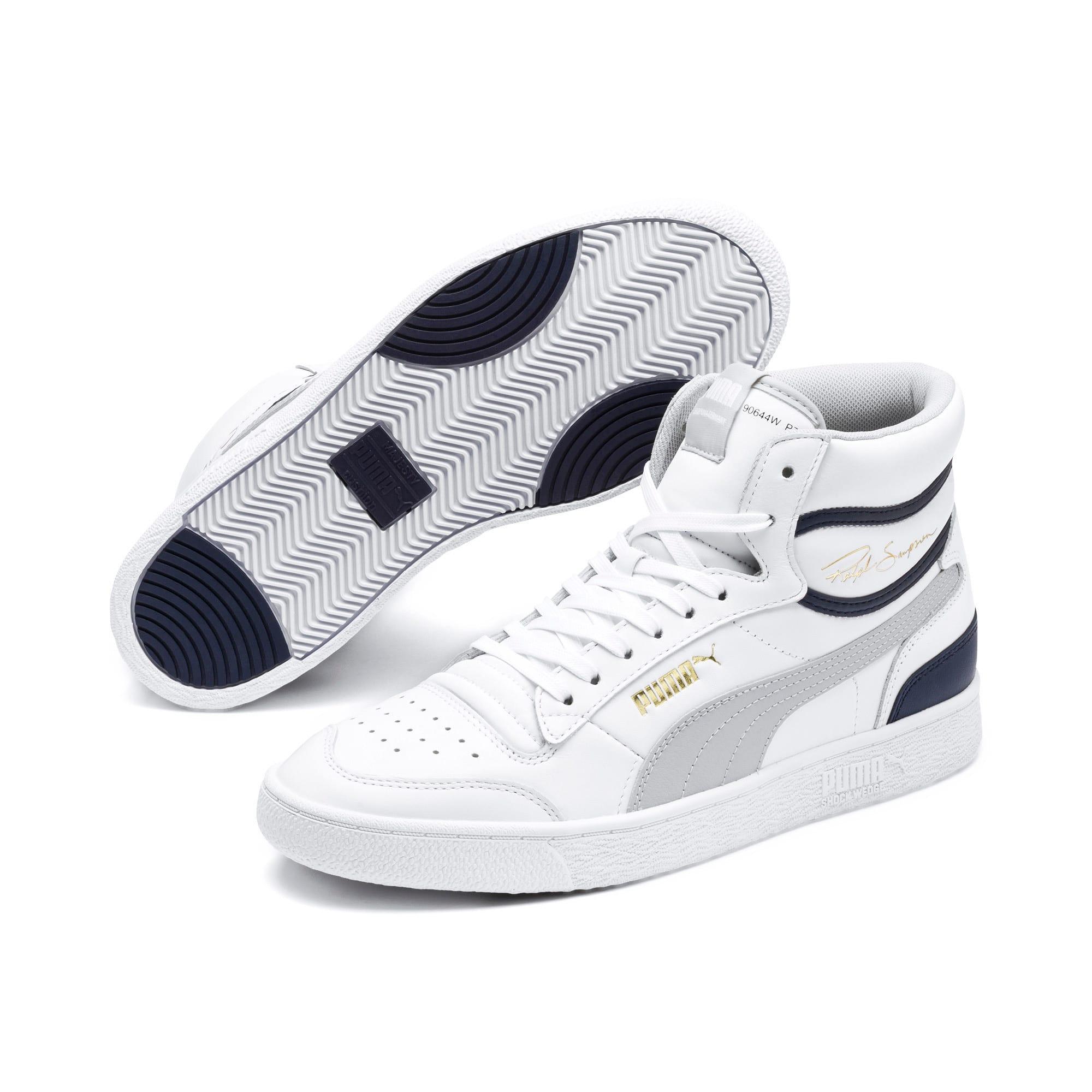 Thumbnail 2 of Ralph Sampson Mid Sneakers, P White-Gray Violet-Peacoat, medium