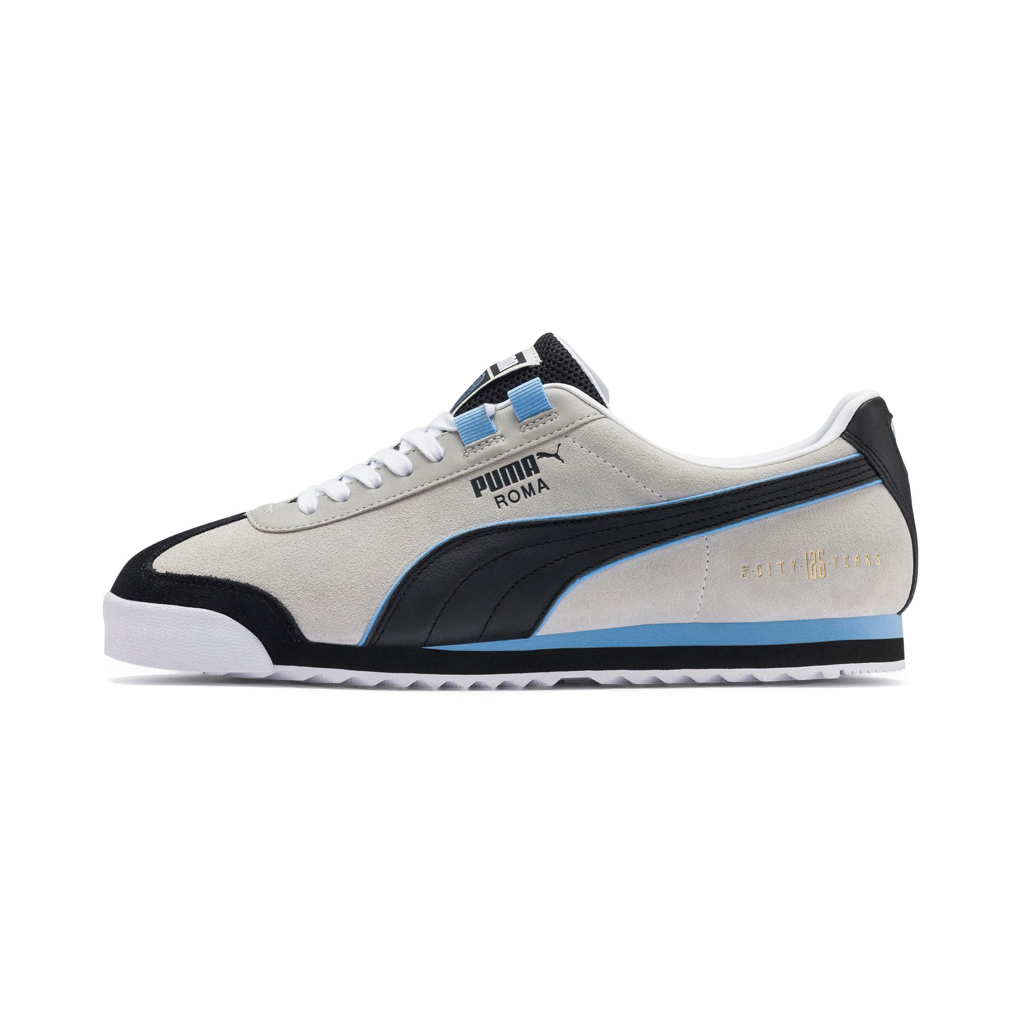 Thumbnail 1 of Roma x Manchester City Trainers, Gray Violet-Team Light Blue, medium