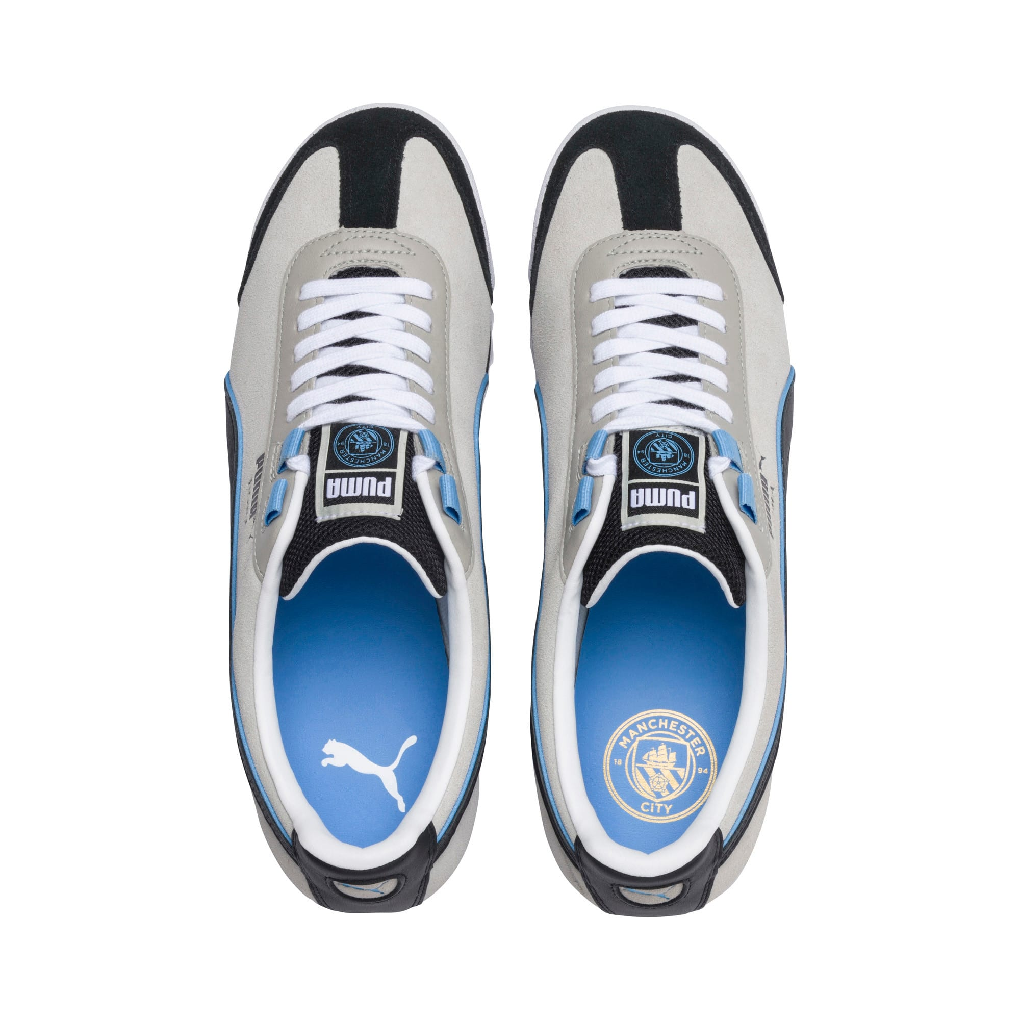 Thumbnail 6 of Roma x Manchester City Trainers, Gray Violet-Team Light Blue, medium