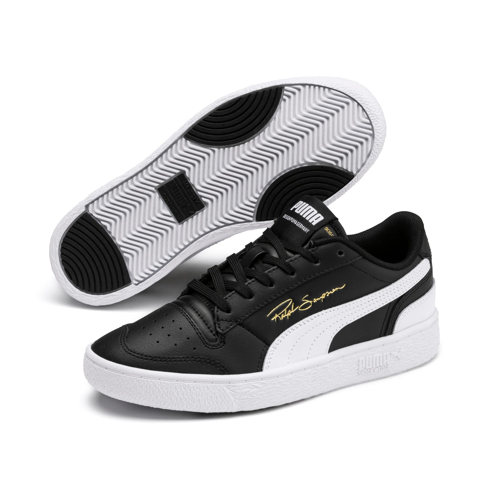 Thumbnail 2 of Ralph Sampson Lo Sneakers JR, Black-White-White, medium
