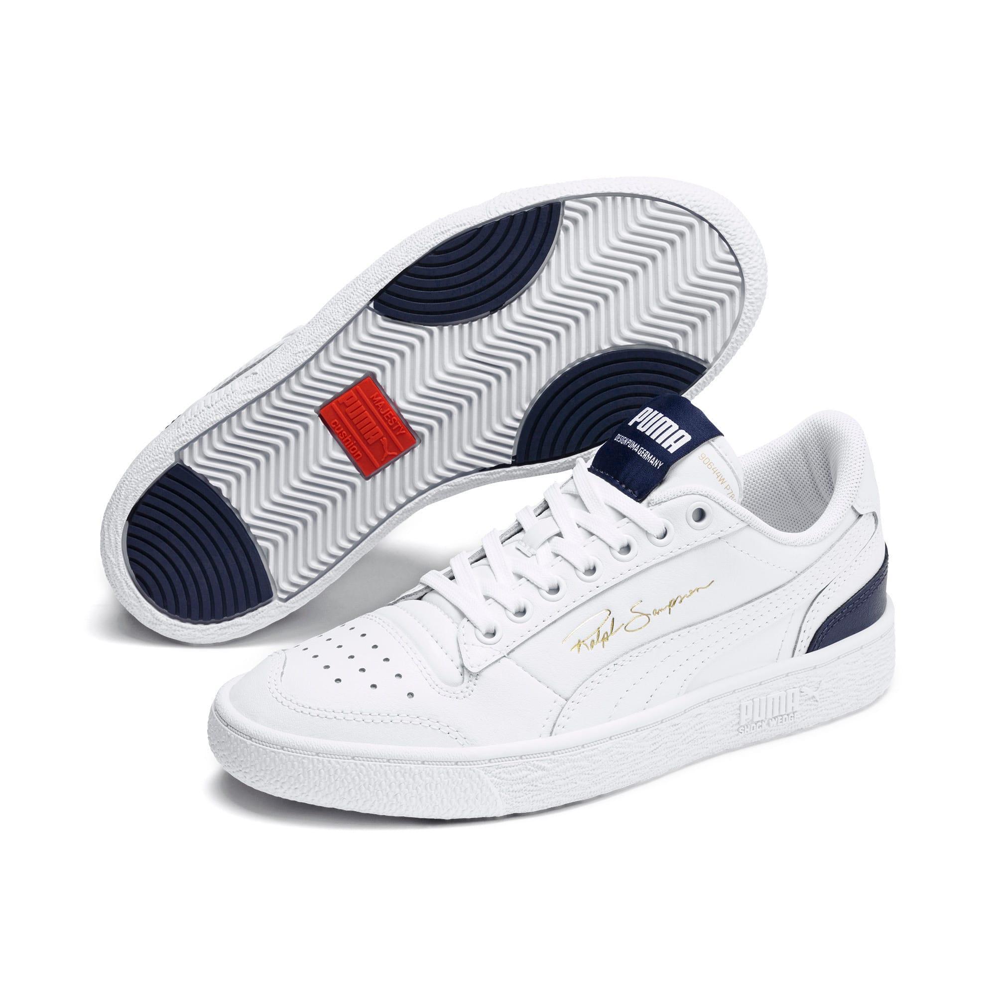 Thumbnail 2 of Ralph Sampson Lo Sneakers JR, White-Peacoat-White, medium