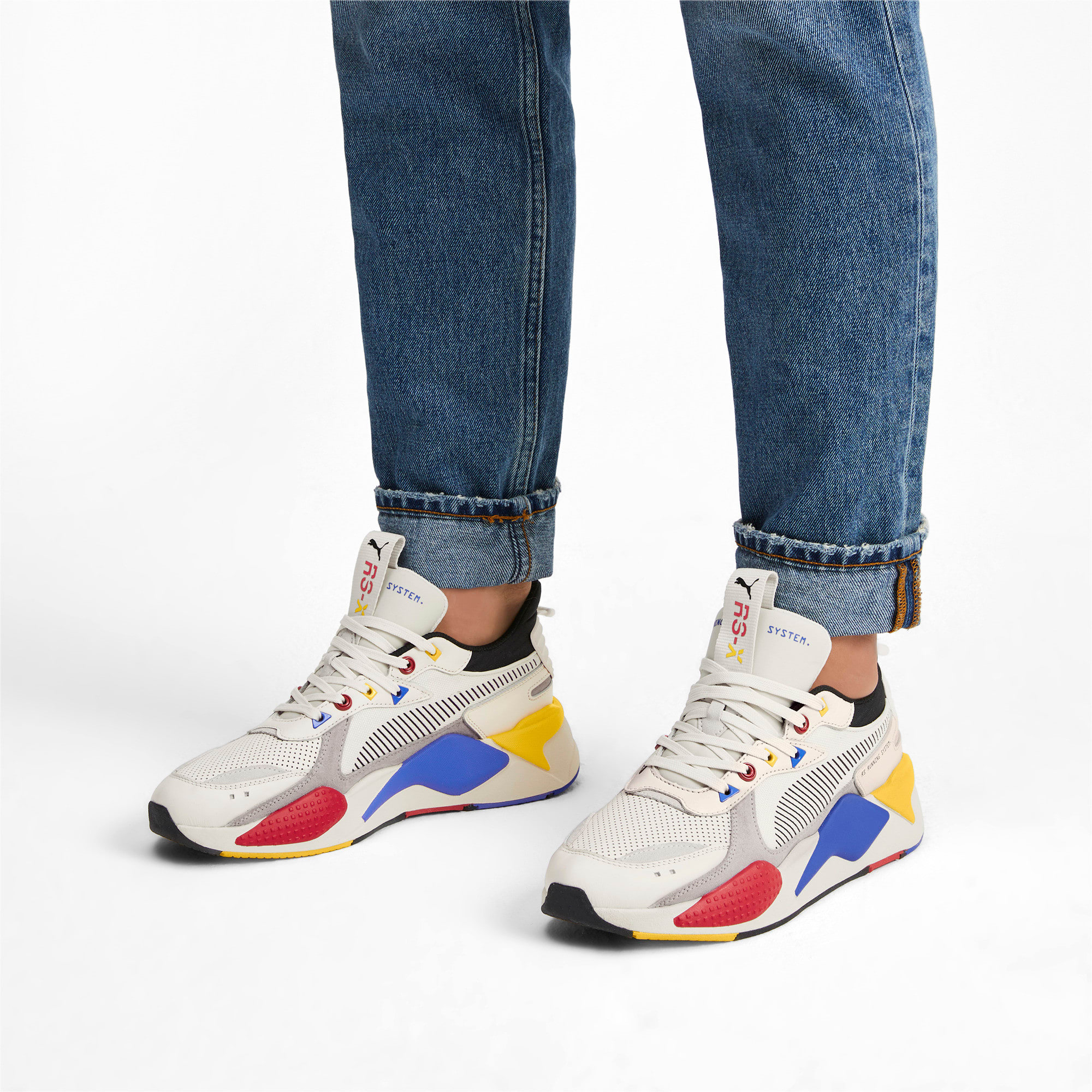 RS-X Colour Theory Trainers, Whisper White-Puma Black, large