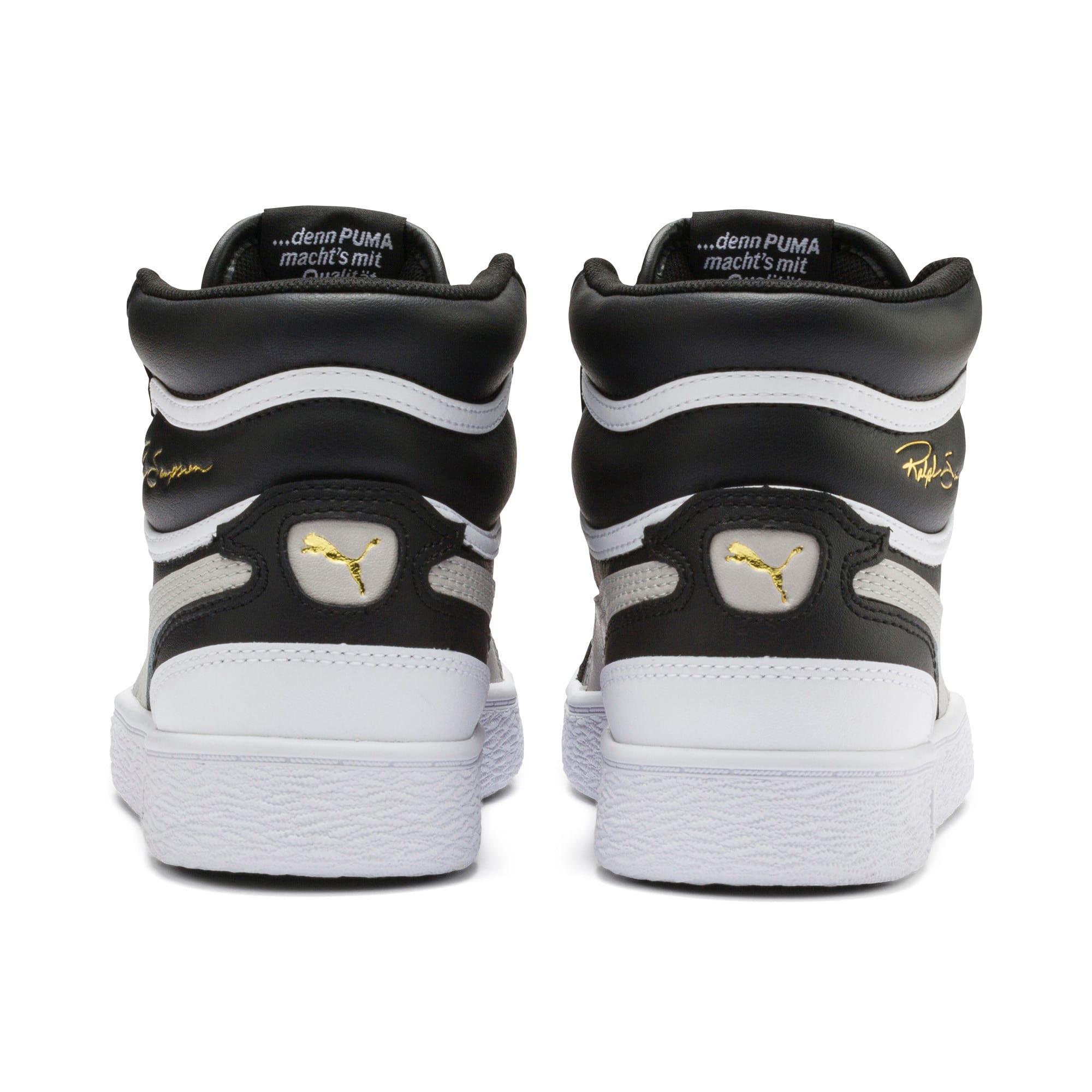 Thumbnail 3 of Ralph Sampson Mid Youth Sneaker, Black-Gray Violet-White, medium