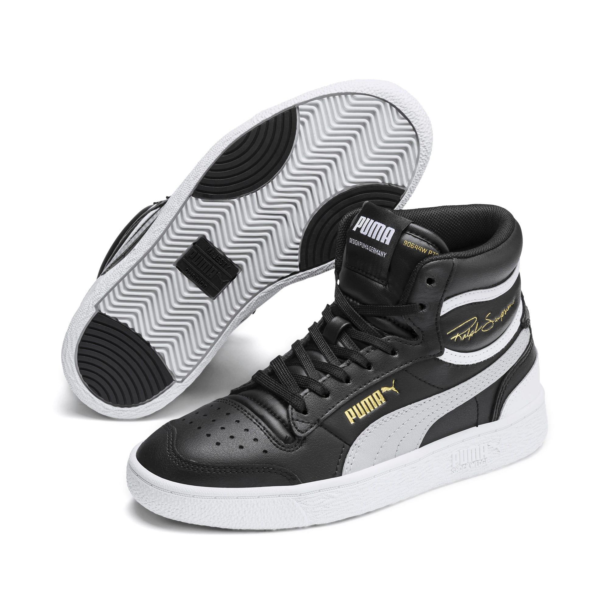 Thumbnail 2 of Ralph Sampson Mid Youth Sneaker, Black-Gray Violet-White, medium