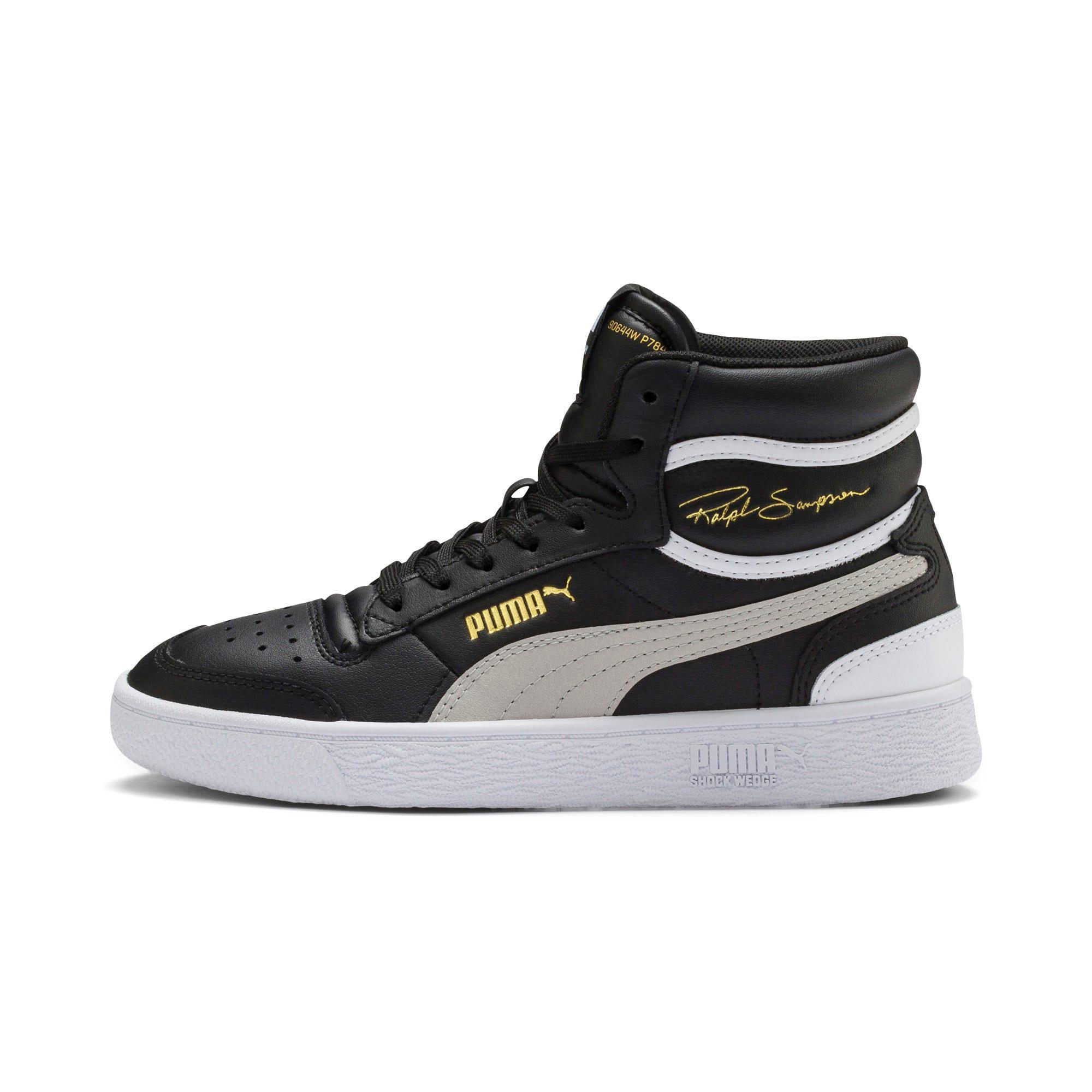 Thumbnail 1 of Ralph Sampson Mid Youth Sneaker, Black-Gray Violet-White, medium