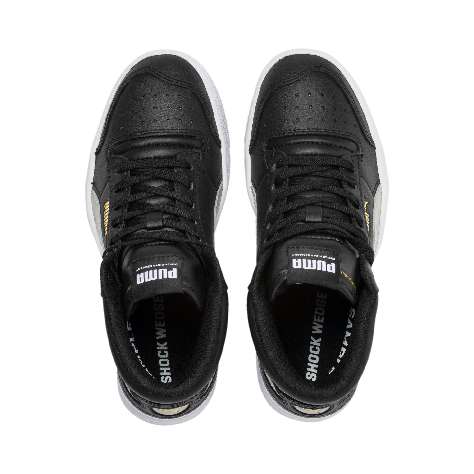 Thumbnail 6 of Ralph Sampson Mid Youth Sneaker, Black-Gray Violet-White, medium
