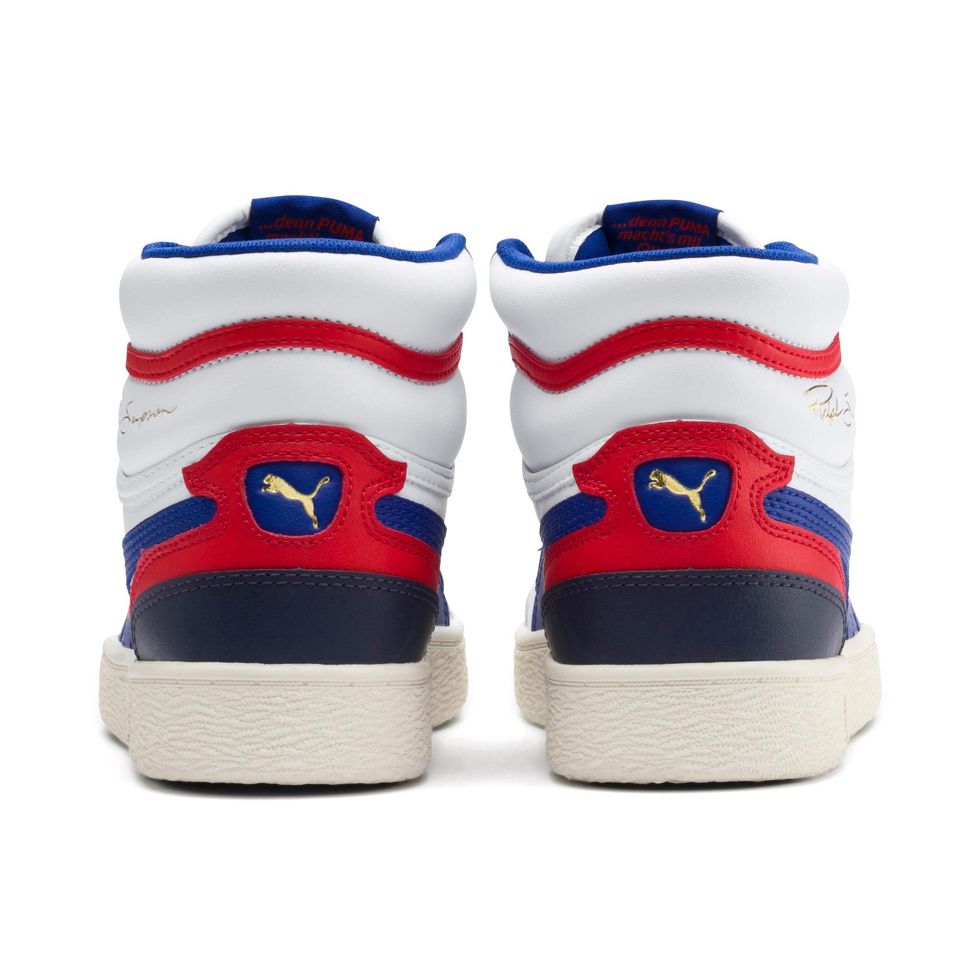 Thumbnail 3 of Ralph Sampson Mid Sneakers JR, White-SurfTheWeb-Marshmallow, medium