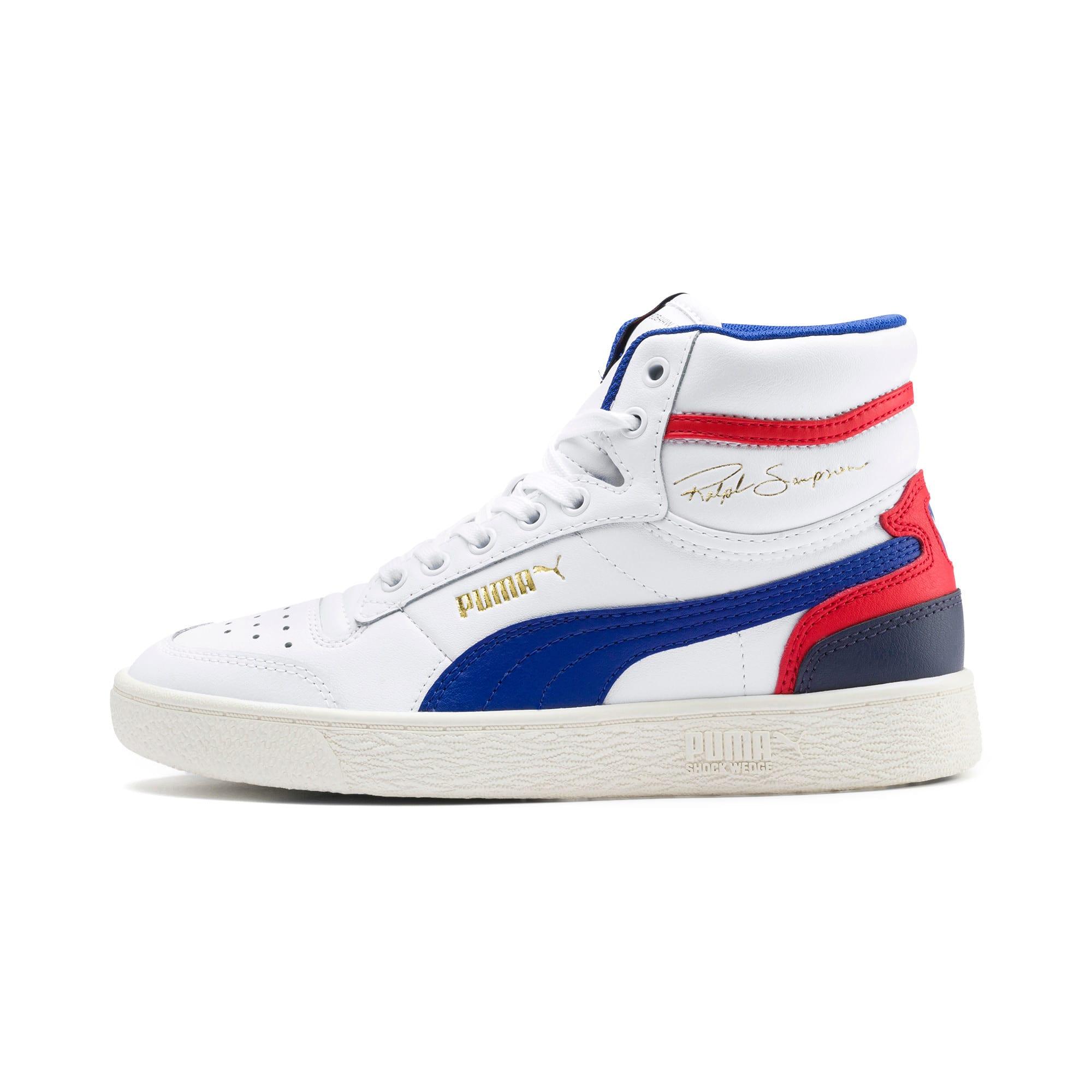 Thumbnail 1 of Ralph Sampson Mid Sneakers JR, White-SurfTheWeb-Marshmallow, medium