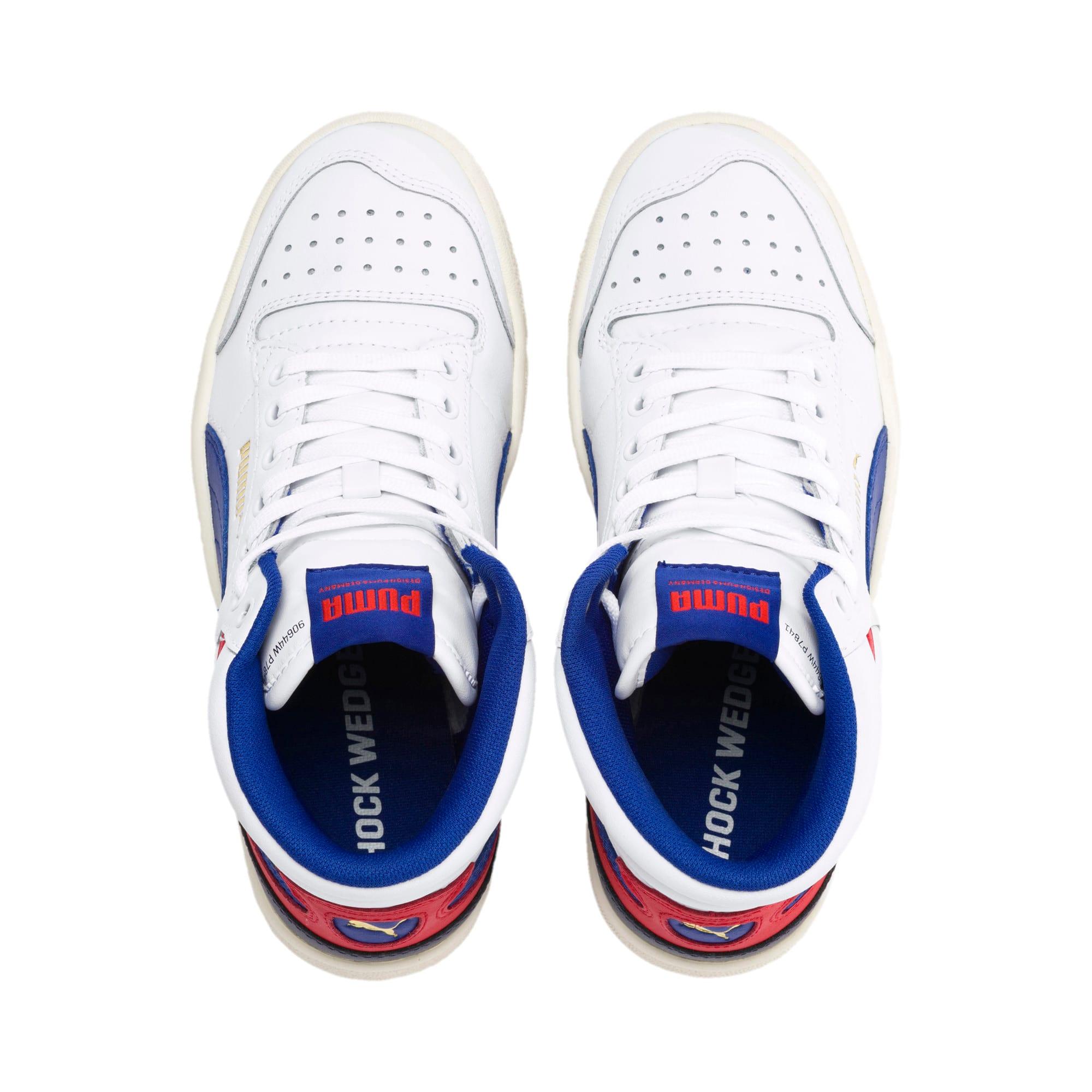 Thumbnail 6 of Ralph Sampson Mid Sneakers JR, White-SurfTheWeb-Marshmallow, medium