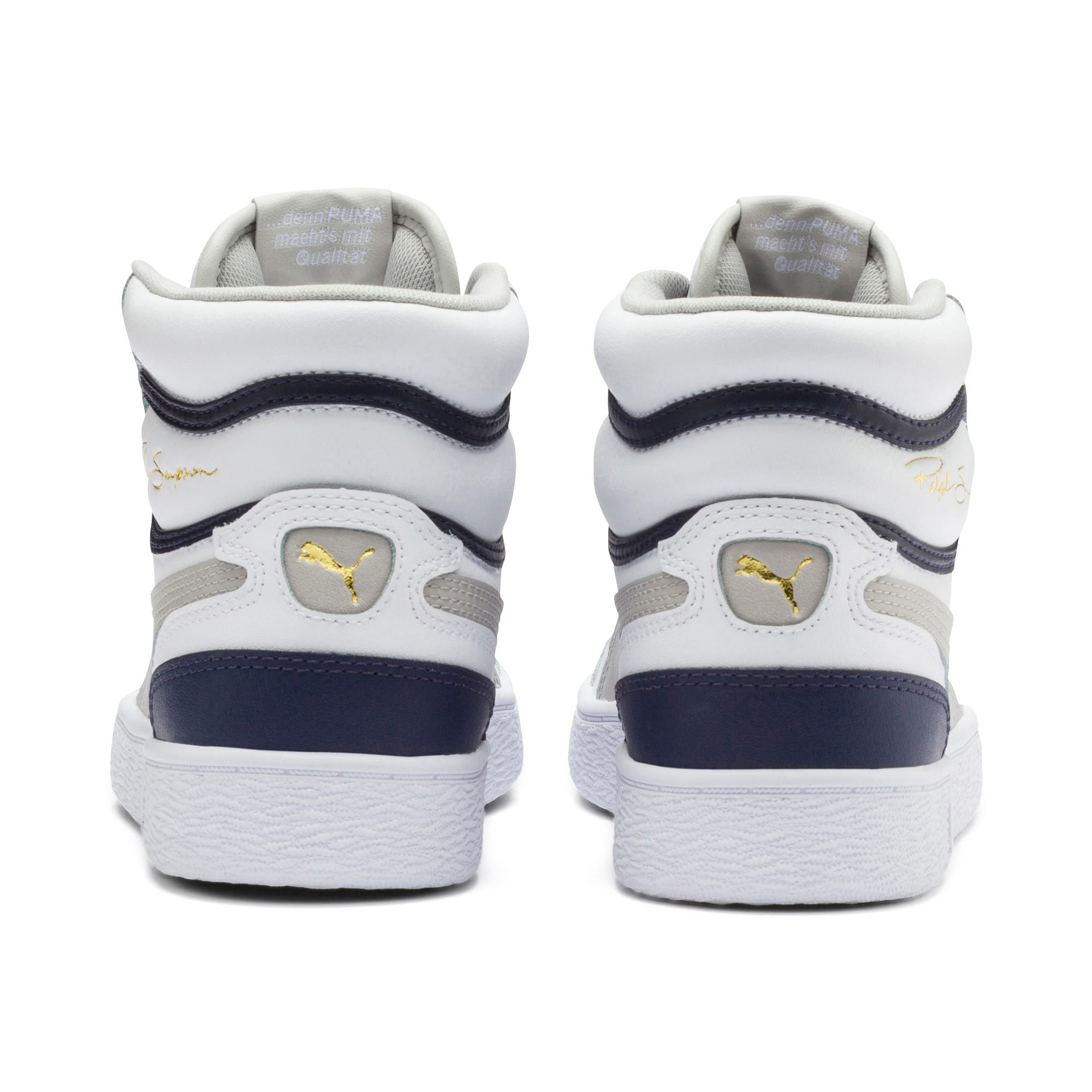 Thumbnail 3 of Ralph Sampson Mid Youth Trainers, White-Gray Violet-Peacoat, medium