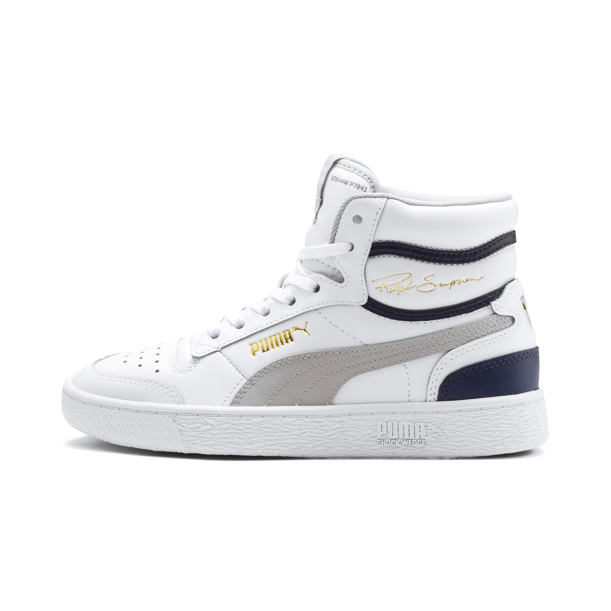 Thumbnail 1 of Ralph Sampson Mid Youth Trainers, White-Gray Violet-Peacoat, medium
