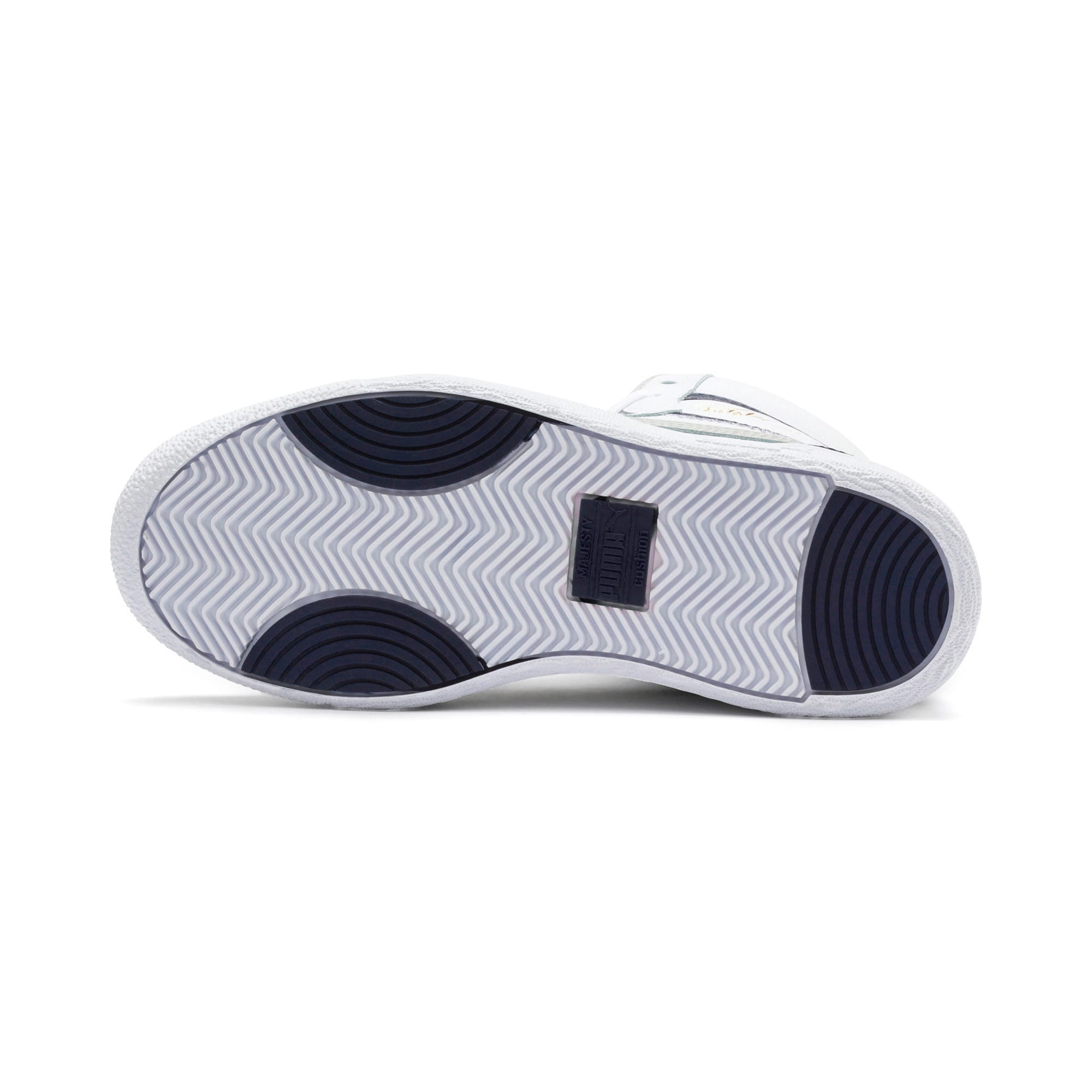 Thumbnail 4 of Ralph Sampson Mid Youth Trainers, White-Gray Violet-Peacoat, medium