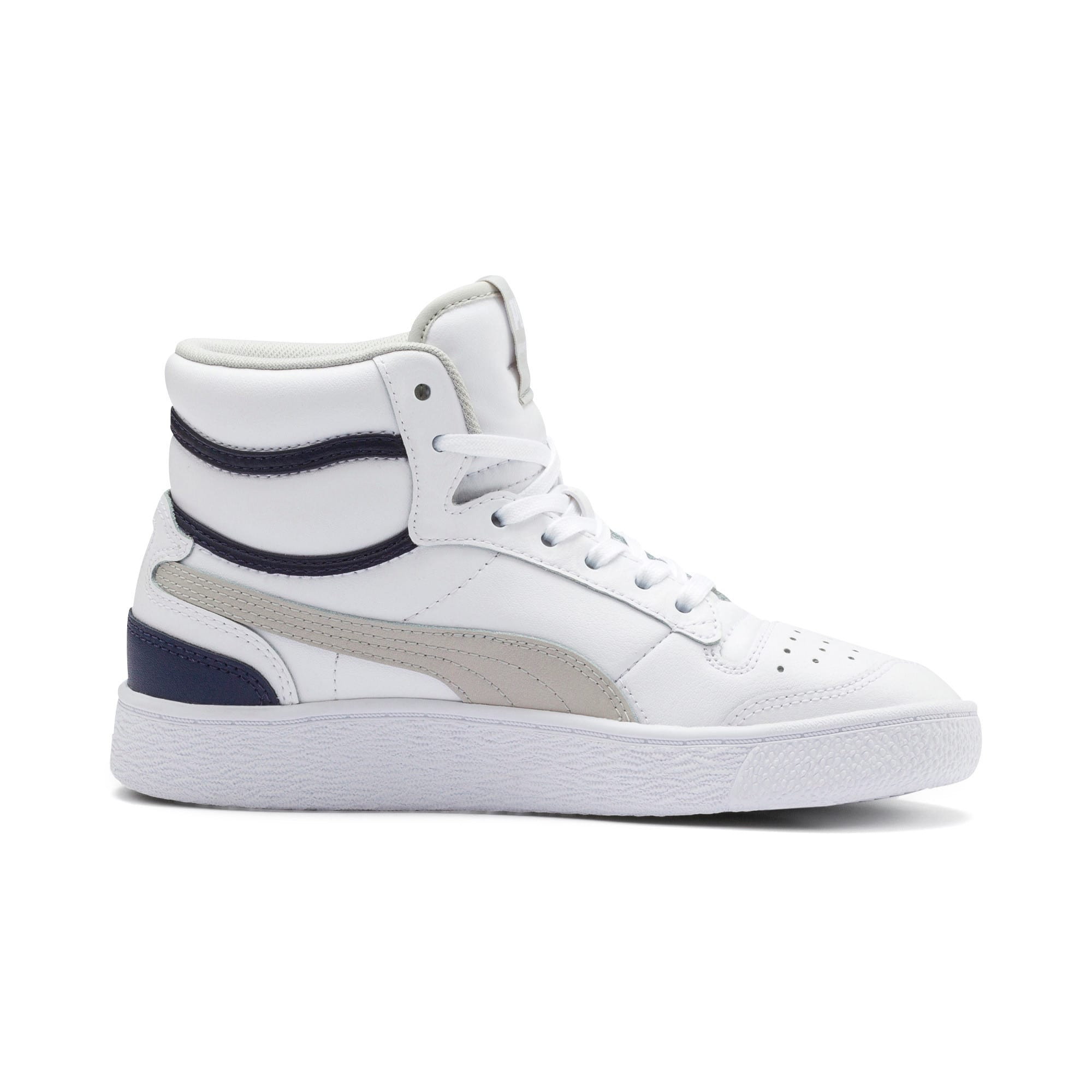 Thumbnail 5 of Ralph Sampson Mid Youth Trainers, White-Gray Violet-Peacoat, medium