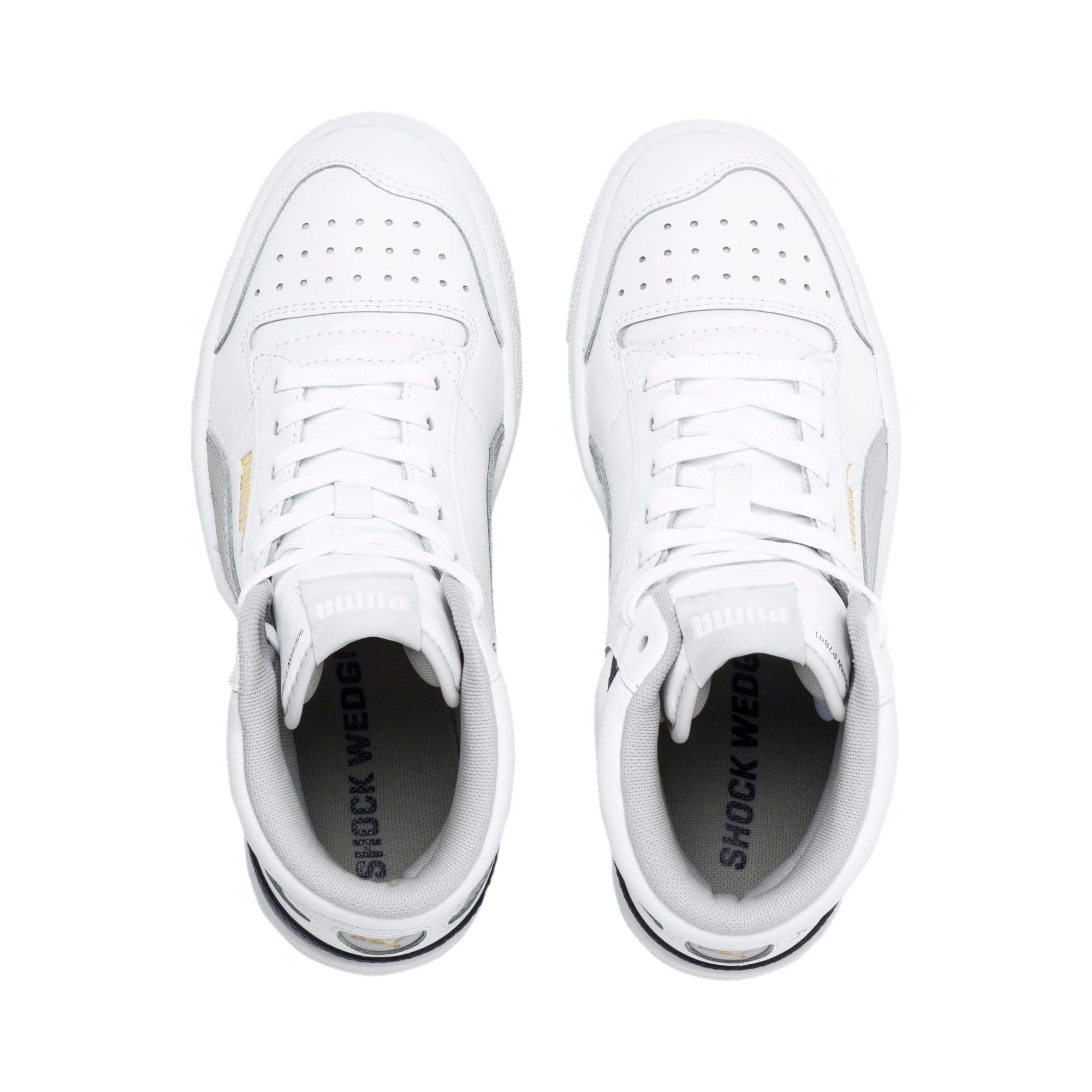 Thumbnail 6 of Ralph Sampson Mid Sneakers JR, White-Gray Violet-Peacoat, medium