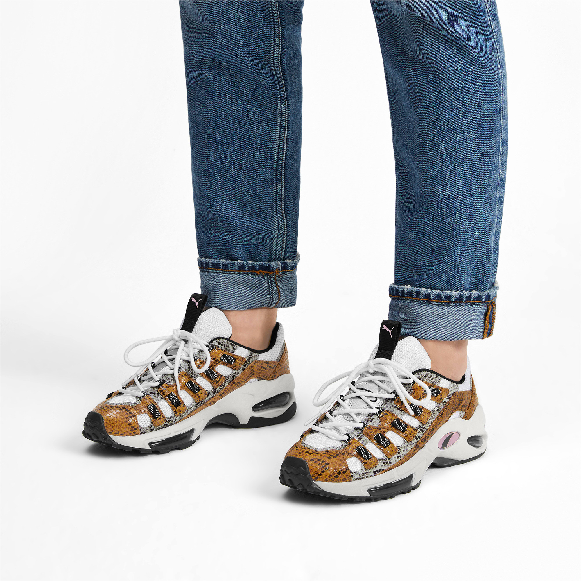 Thumbnail 2 of CELL Endura Animal Kingdom Sneakers, Puma White-Golden Orange, medium