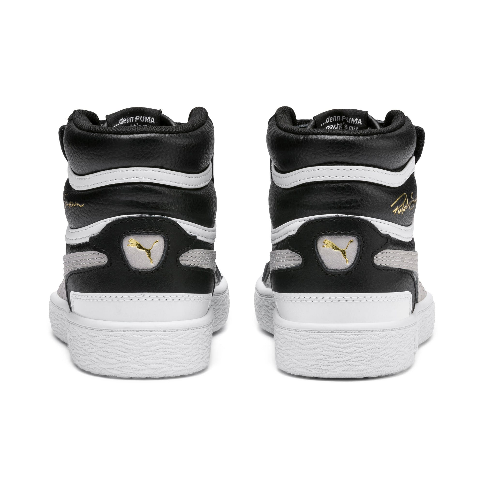 Thumbnail 3 of Ralph Sampson Mid Kids' Trainers, Black-Gray Violet-White, medium