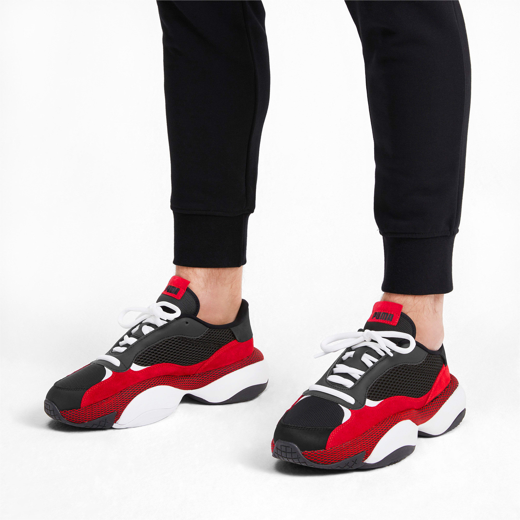 Thumbnail 2 of Alteration Blitz Sneakers, Puma Black-High Risk Red, medium